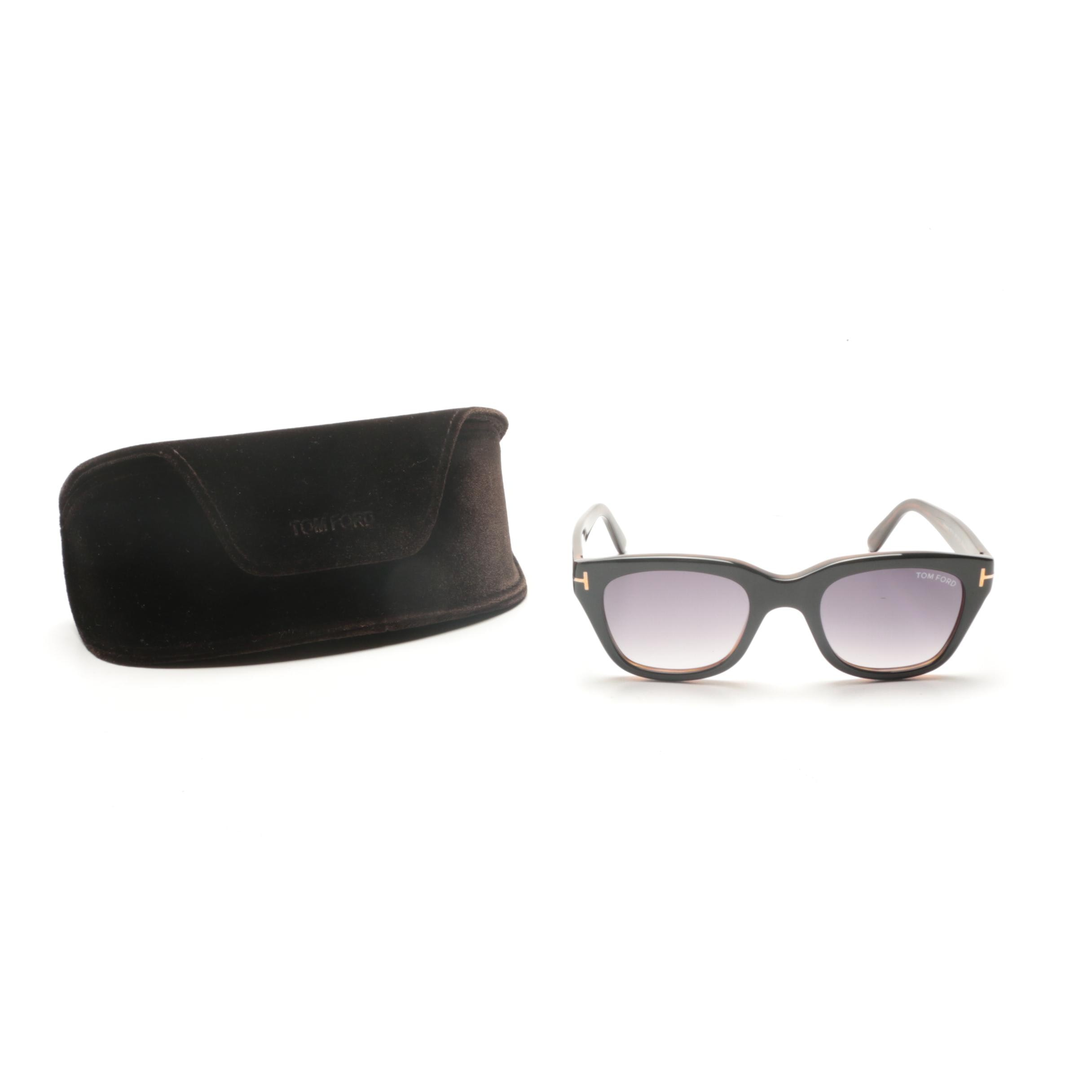 Tom Ford Snowdon Horn-Rimmed Sunglasses