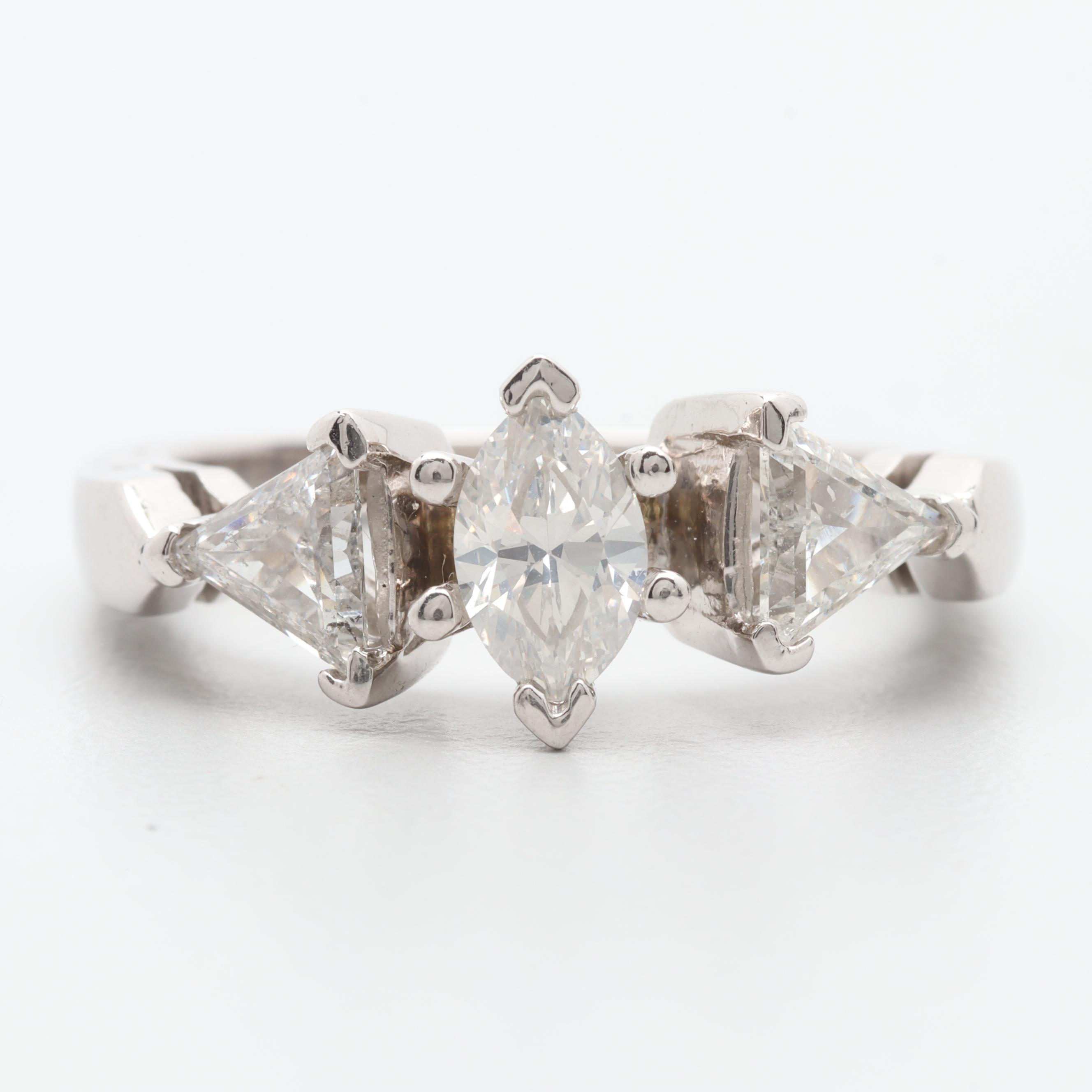 LeVian Platinum 1.00 CTW Diamond Ring