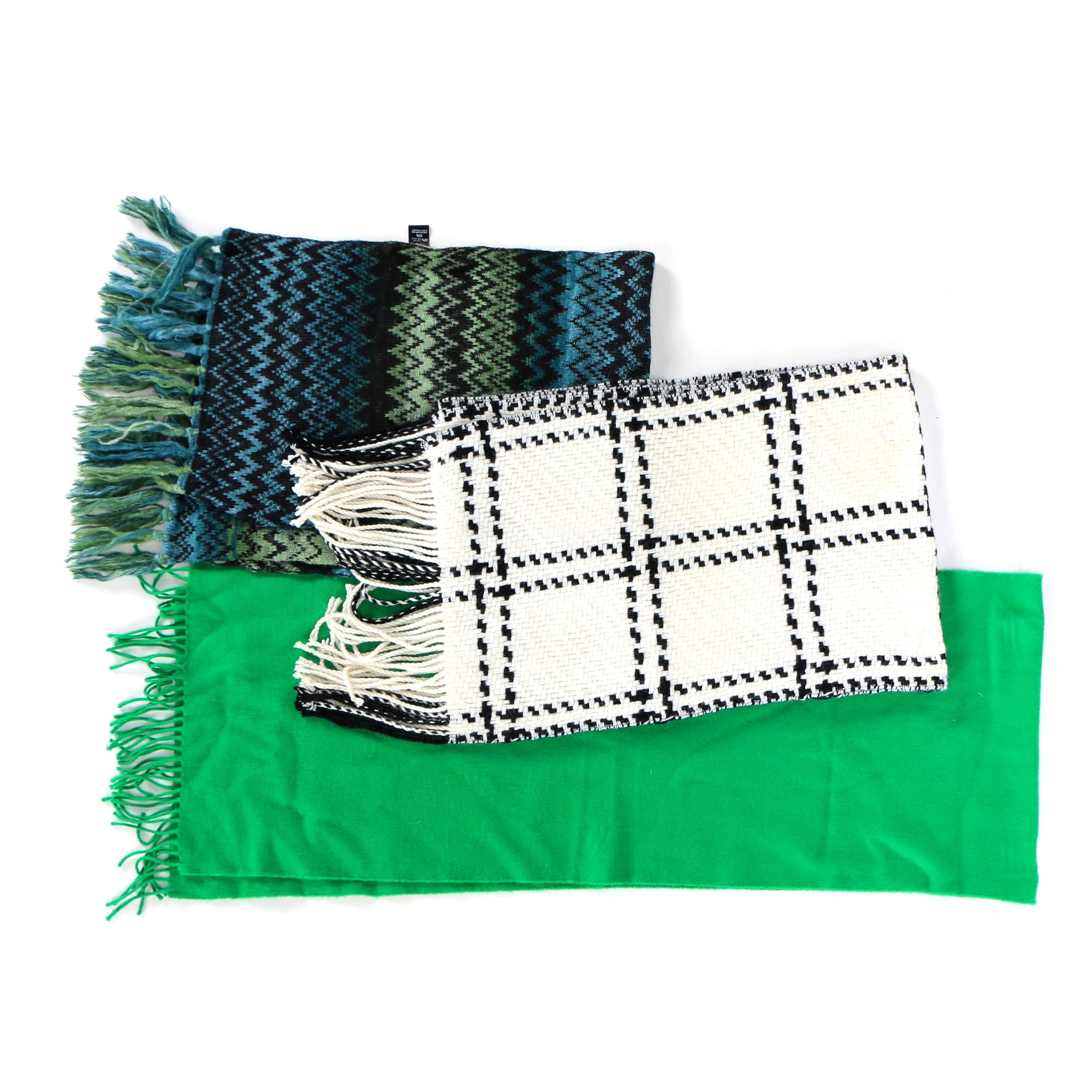 Wool and Wool Blend Scarves including Banana Republic, Missoni and John Hanley