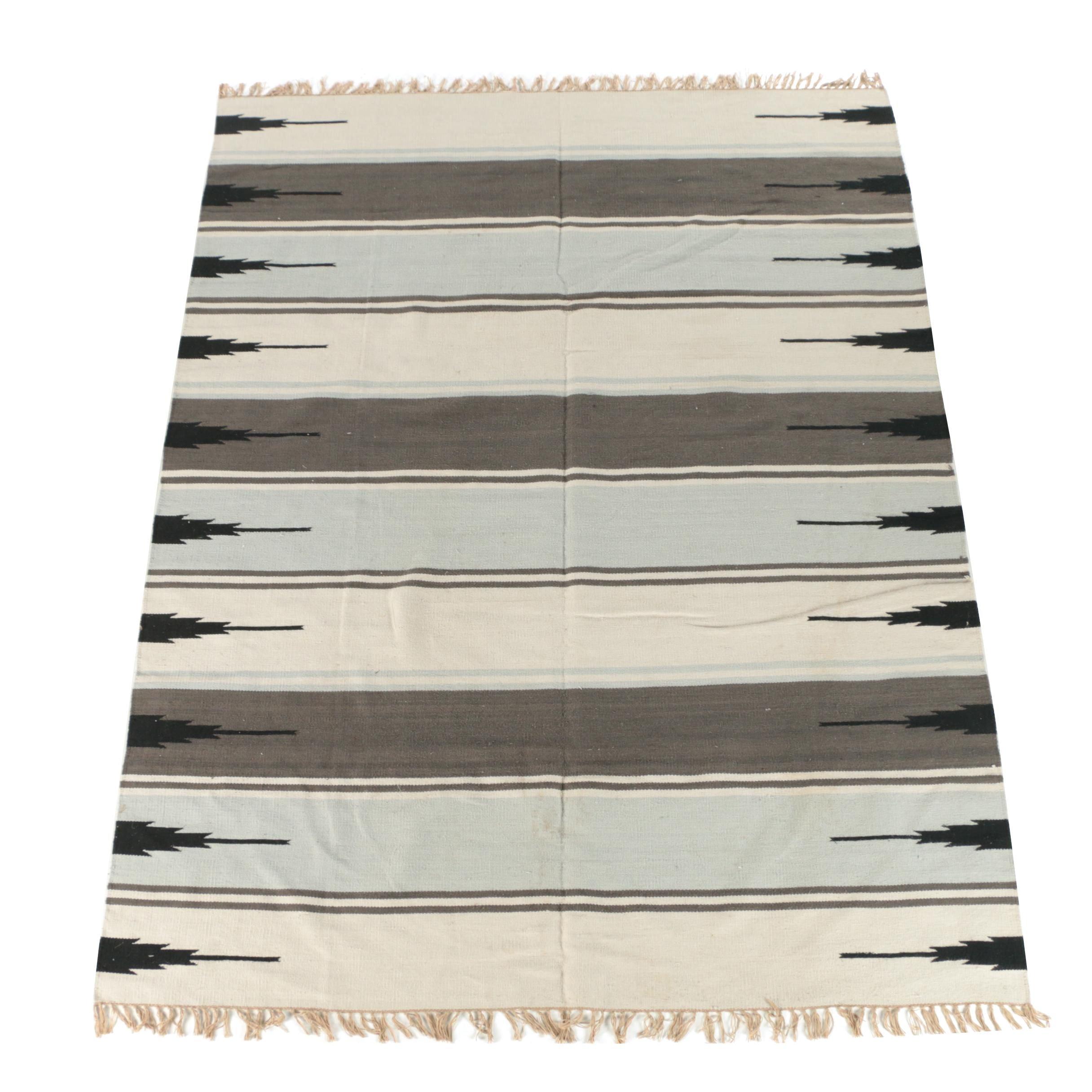 Handwoven Mexican Zapotec Style Area Rug
