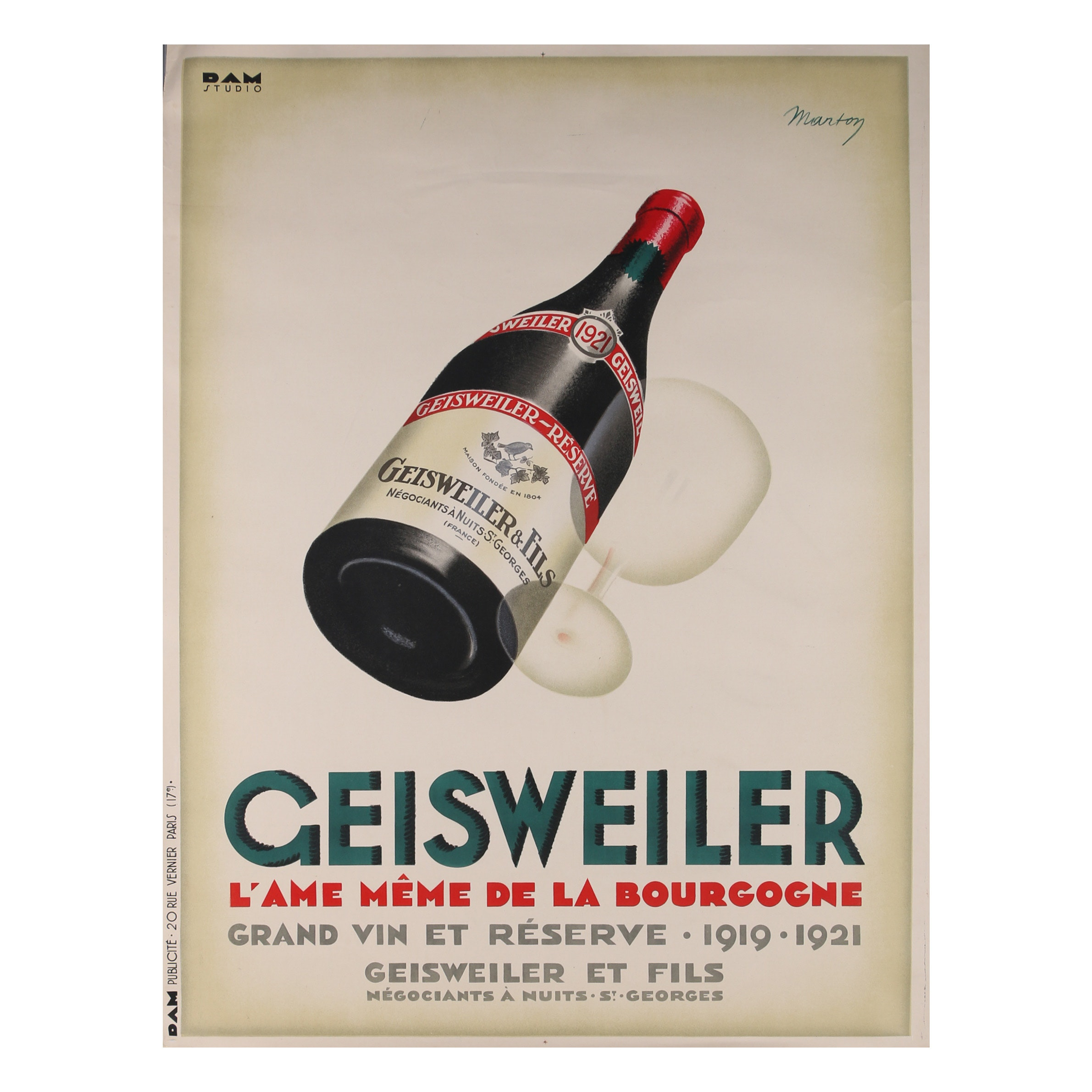 "Poster after Marton ""Geisweiler"""