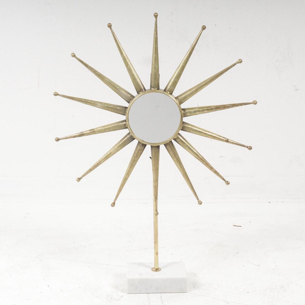 Mid Century Modern Convertible Starburst Mirror