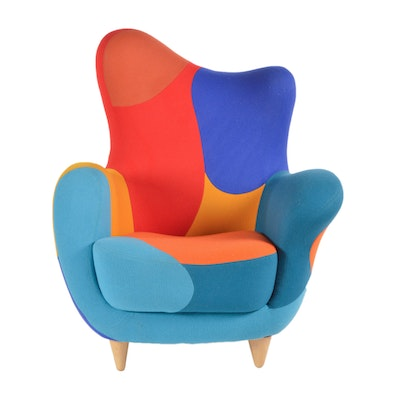 """Alessandra"" Upholstered Armchair by Javier Mariscal for Moroso"