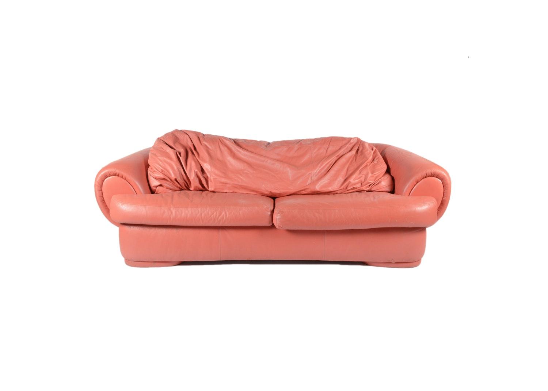 Vintage Leather Sofa by La TreCi Salotti