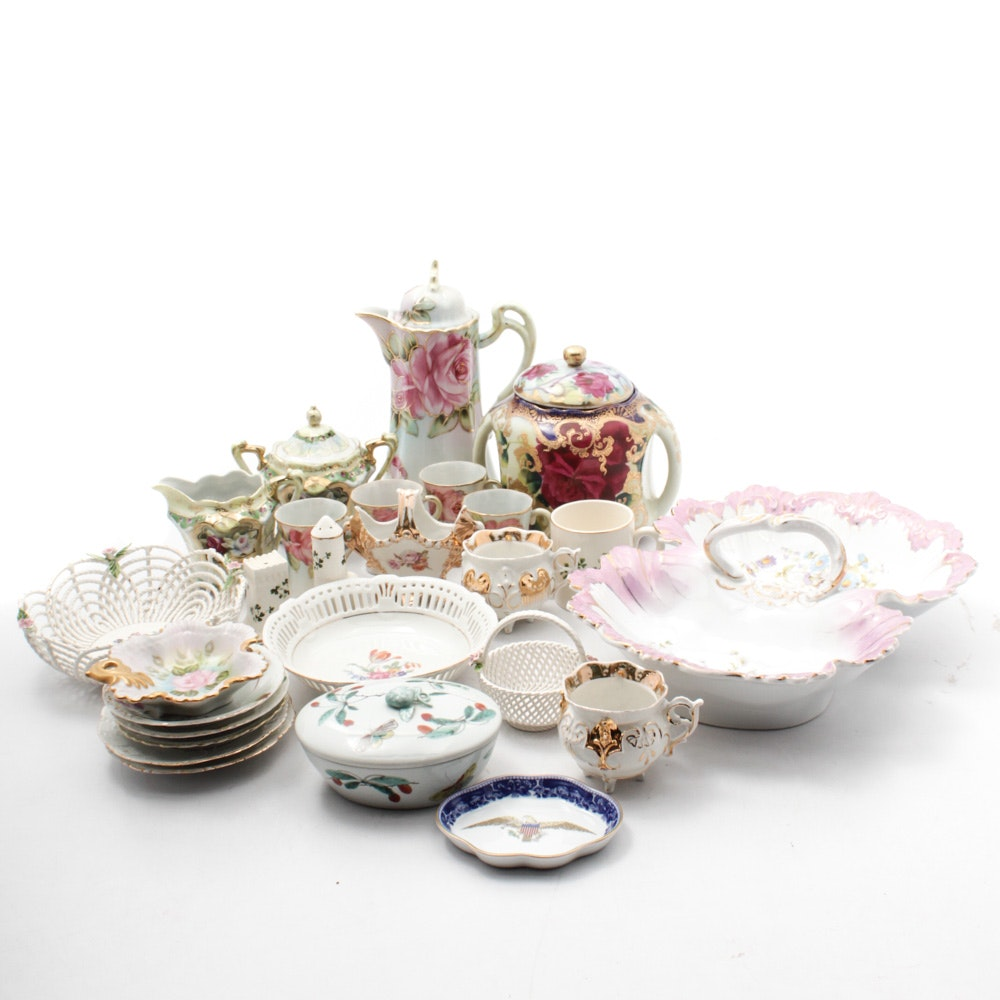 Mottahedeh, Nippon and Assorted Porcelain Tableware
