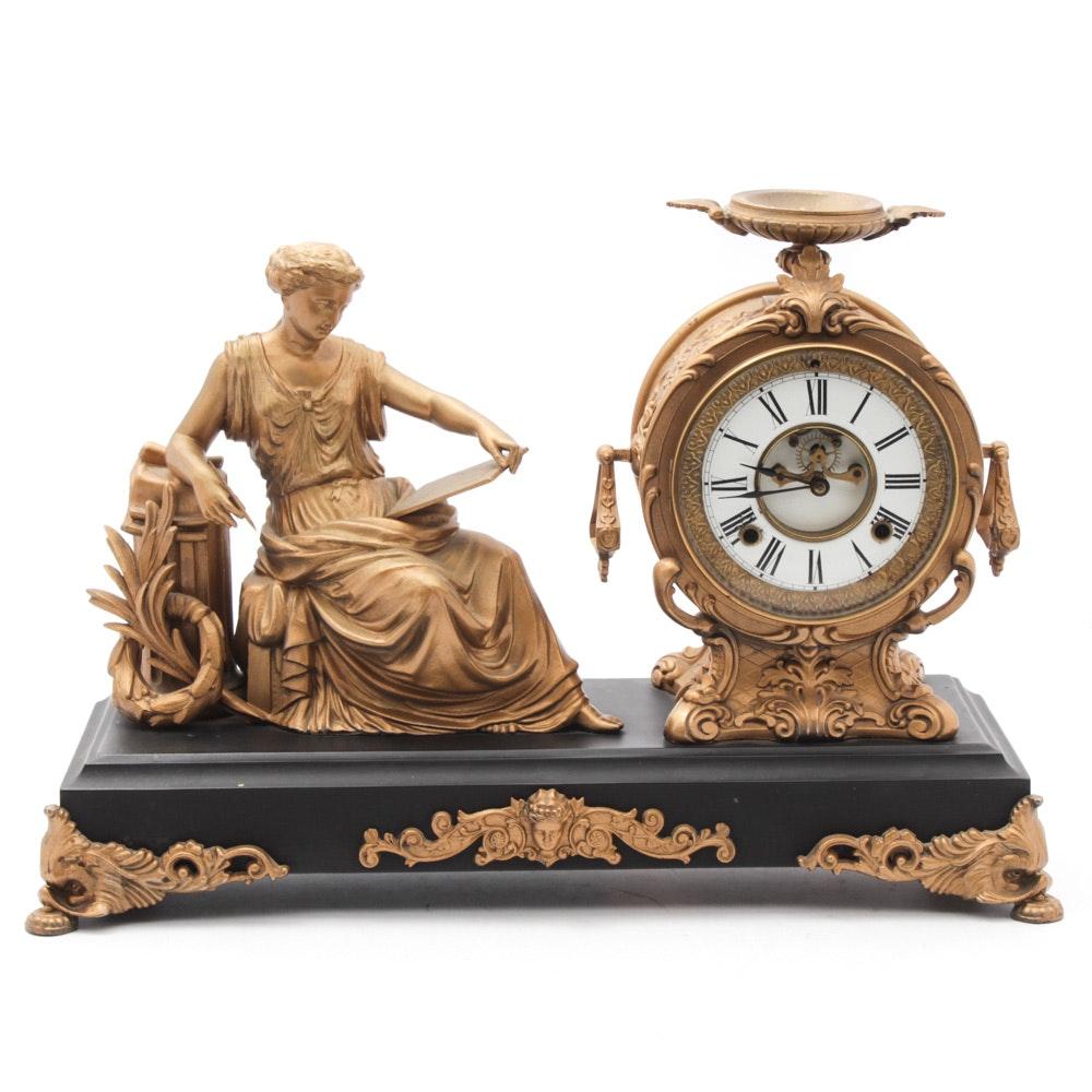 Vintage Figural Mantel Clock