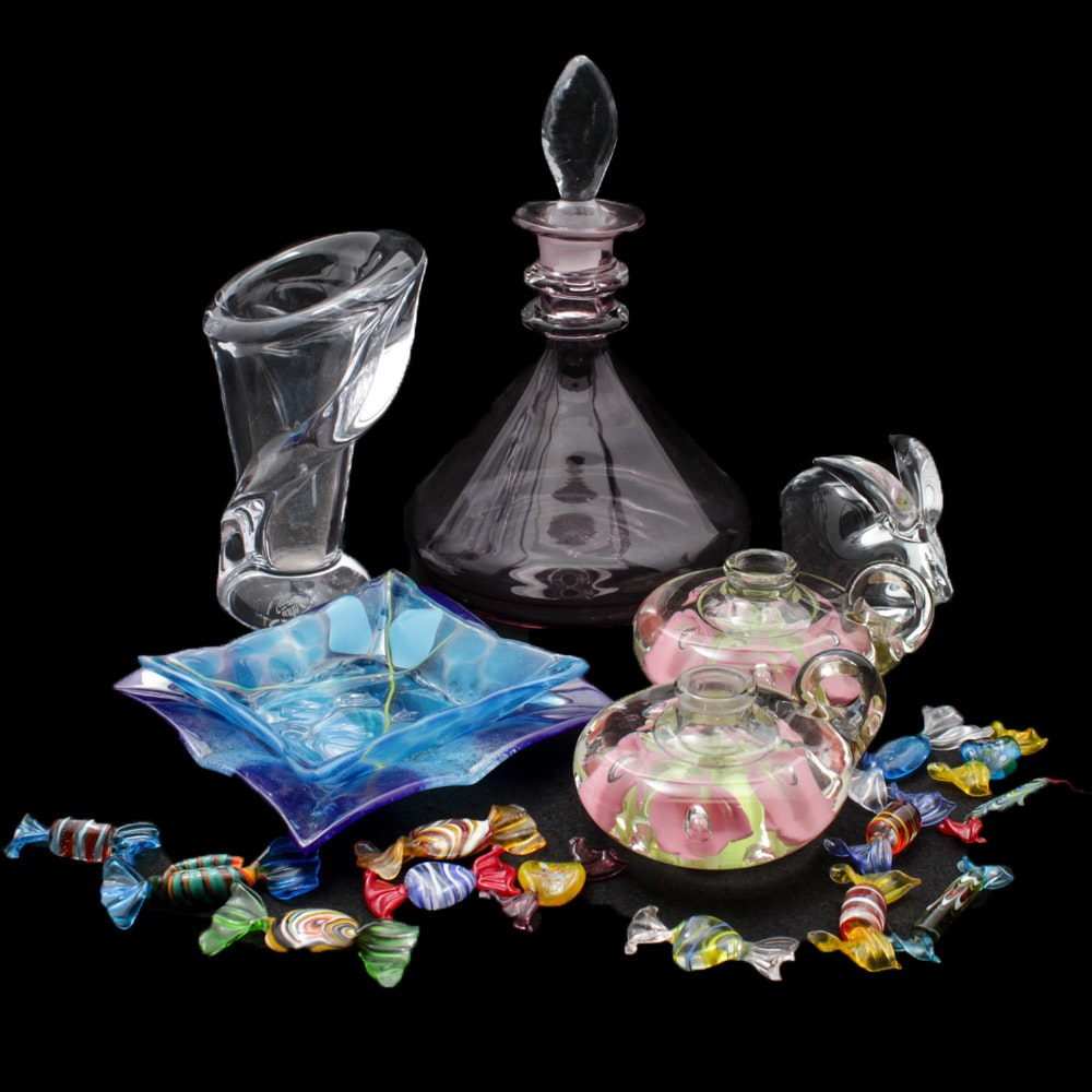 Vannes, F.M. Ronneby and Venetian Style Blown Glass