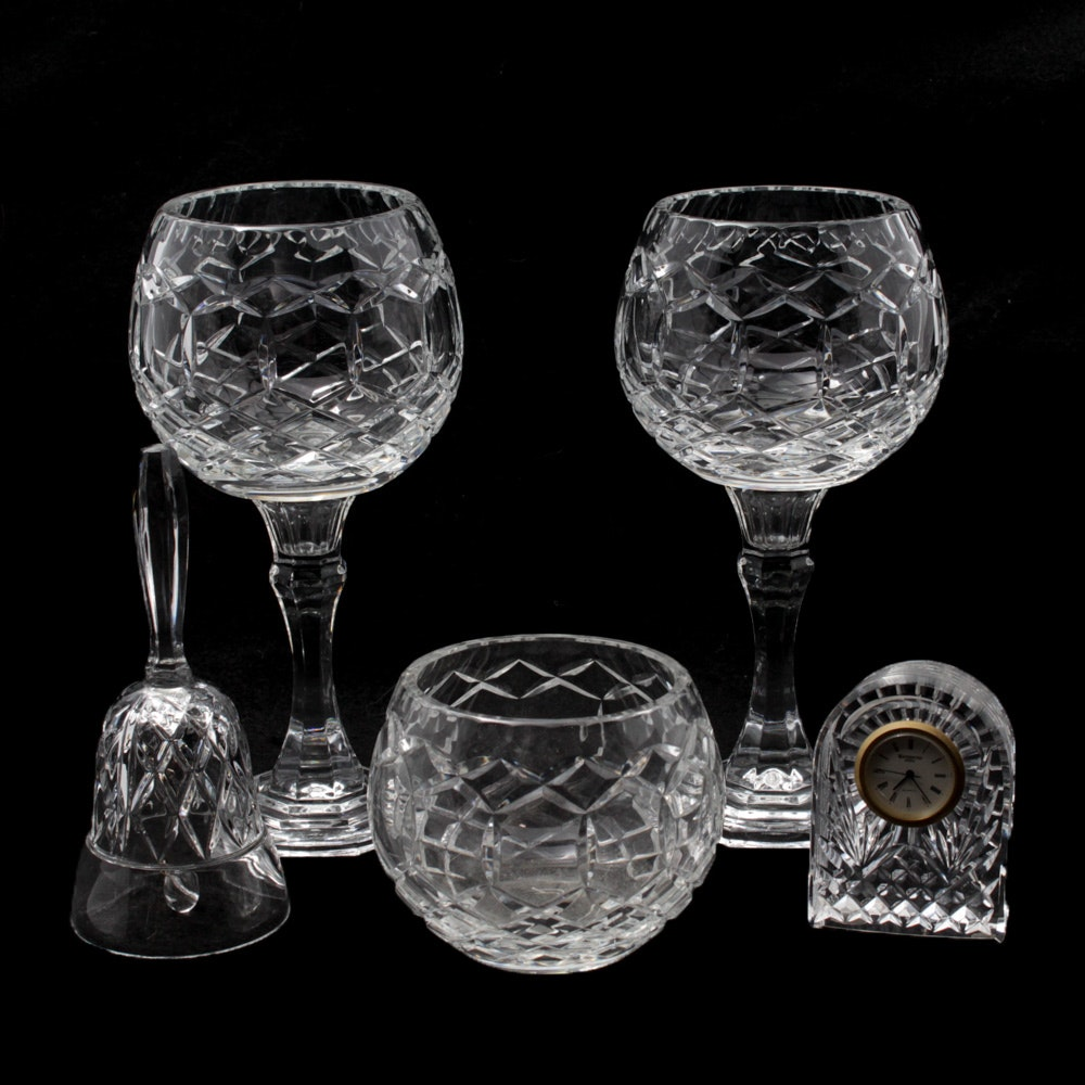 Waterford Crystal Clock and Tableware