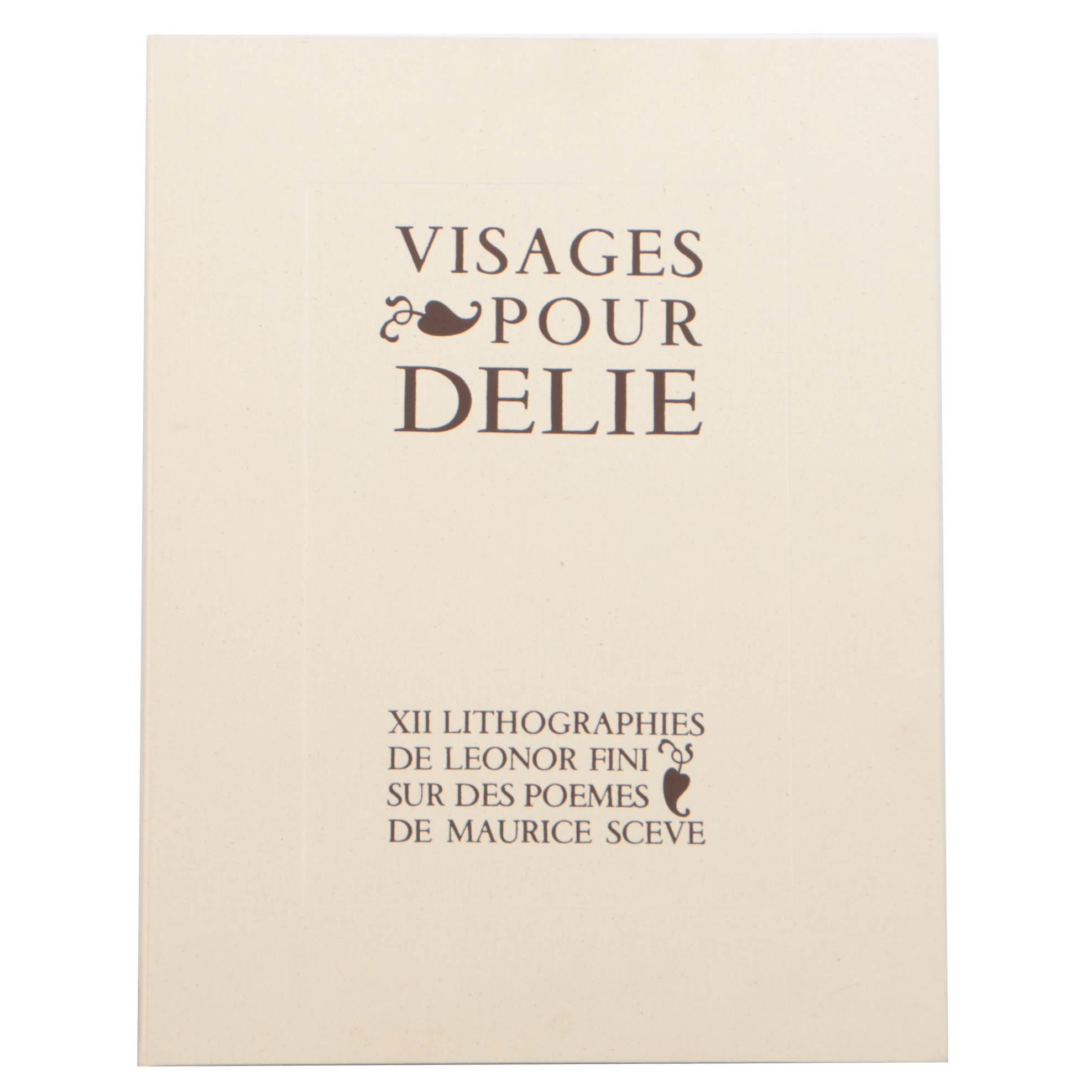 "1974 Edition of ""Visages Pour Delie"" Poems and Portraits"