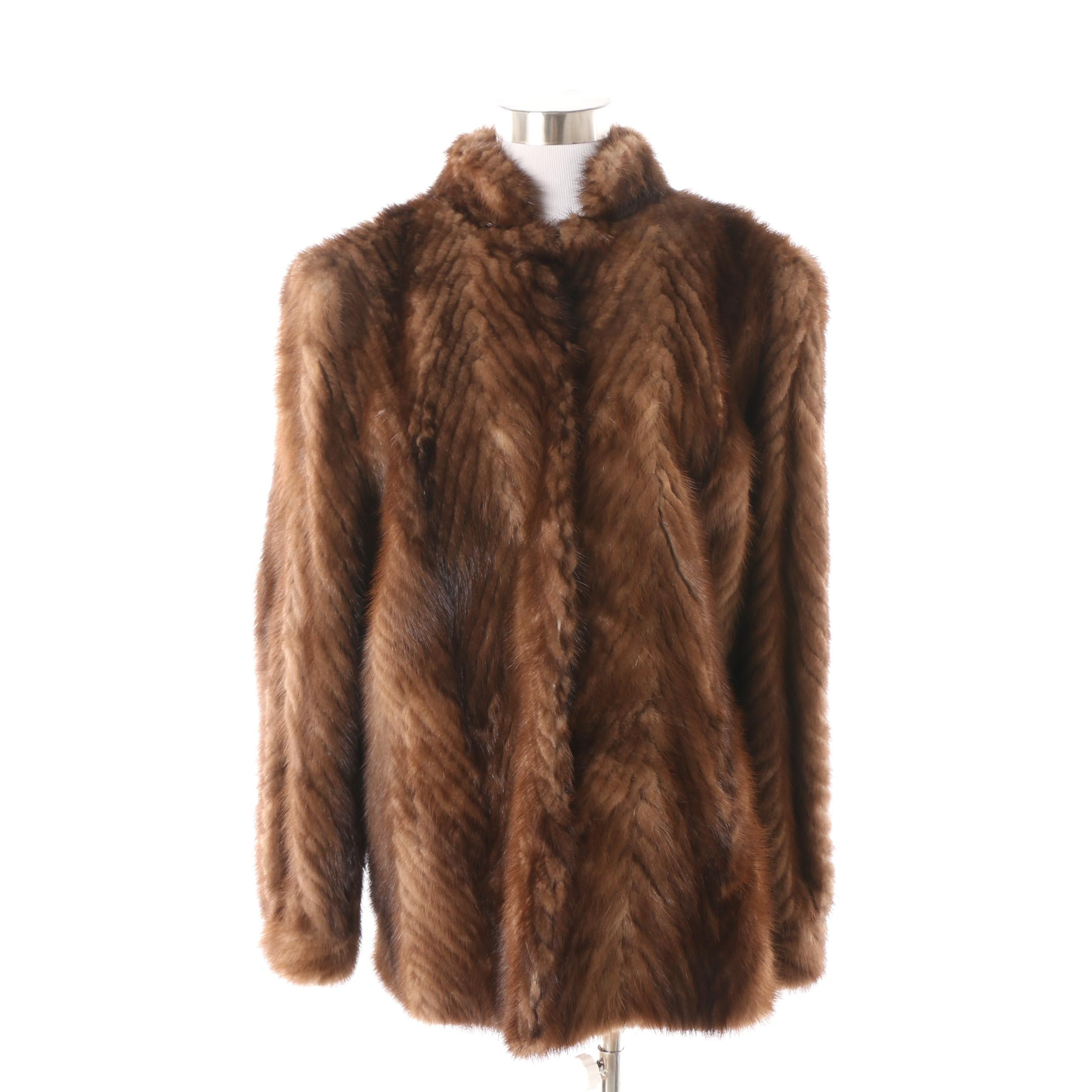 Women's PD Furs Saga Mink Fur Coat