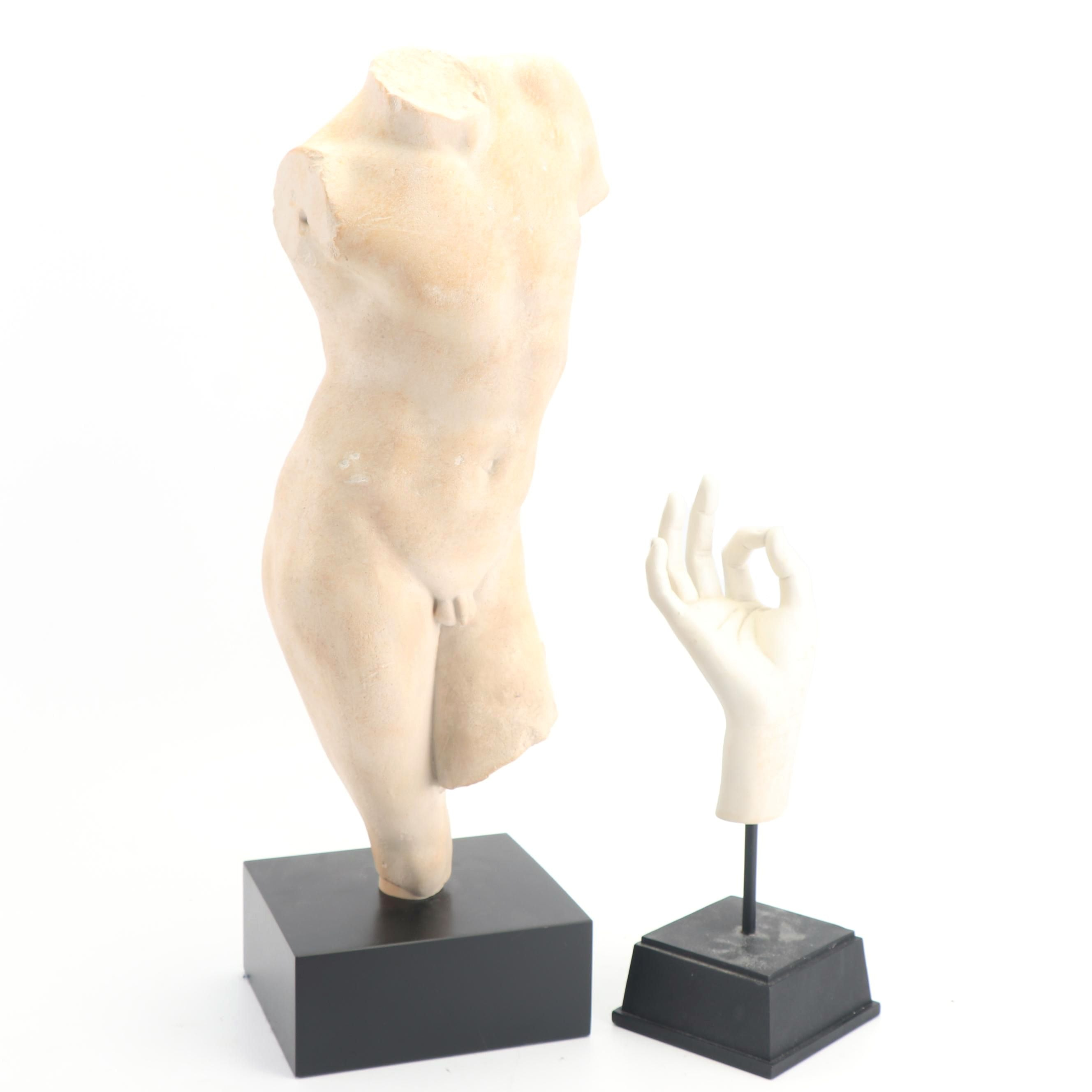 Replica Classical Style Sculpture and Hand Sculpture