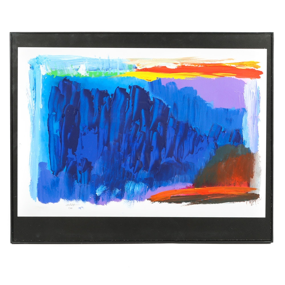 "Robert Lackney Acrylic Painting ""Sky of Blue"""