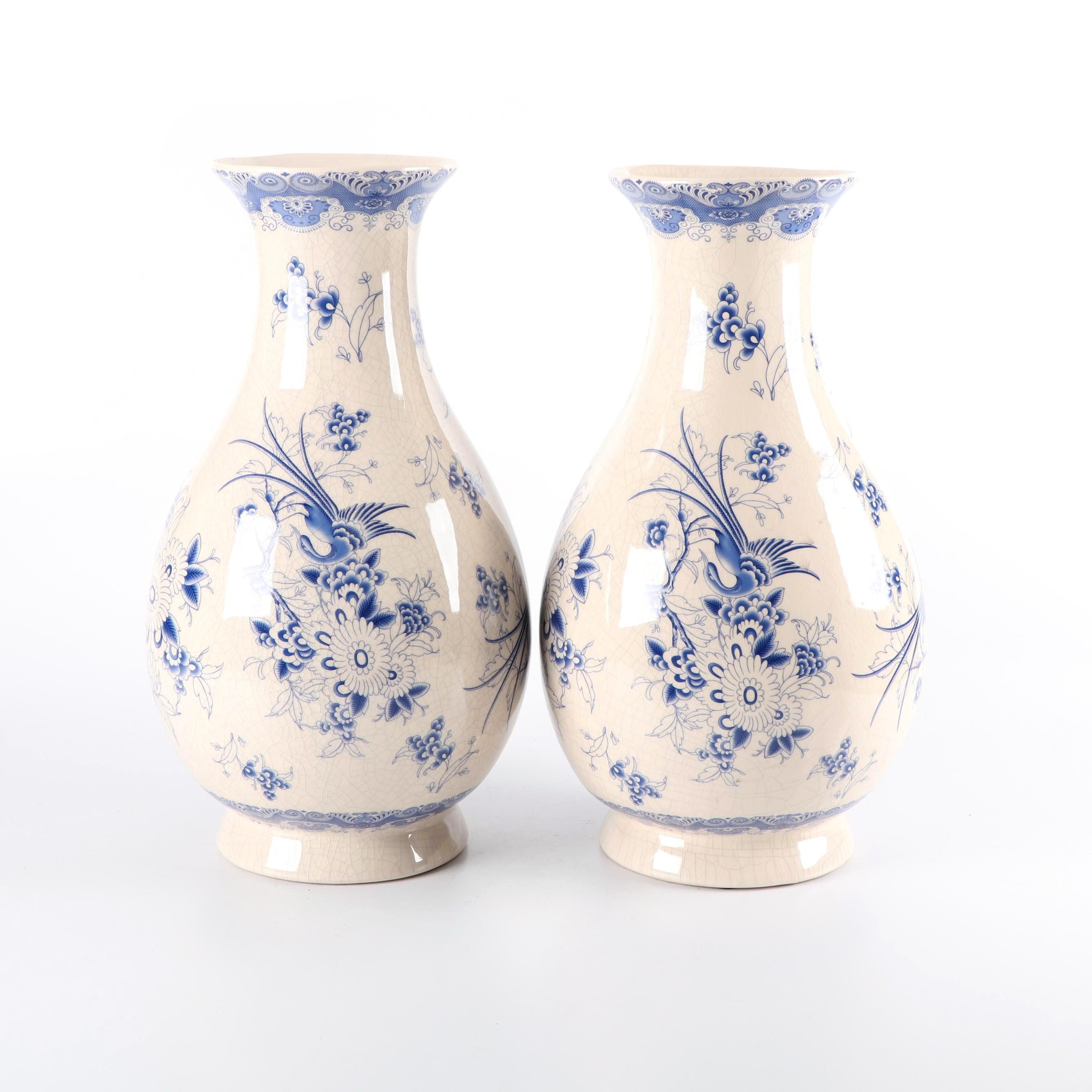 Chinese Blue and White Ceramic Vases
