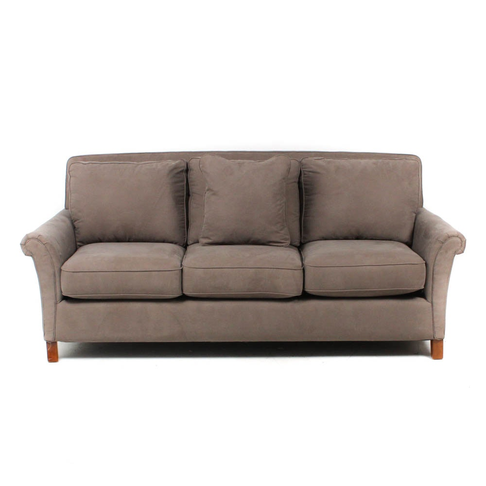La-Z-Boy Grey Cotton Blend Sofa