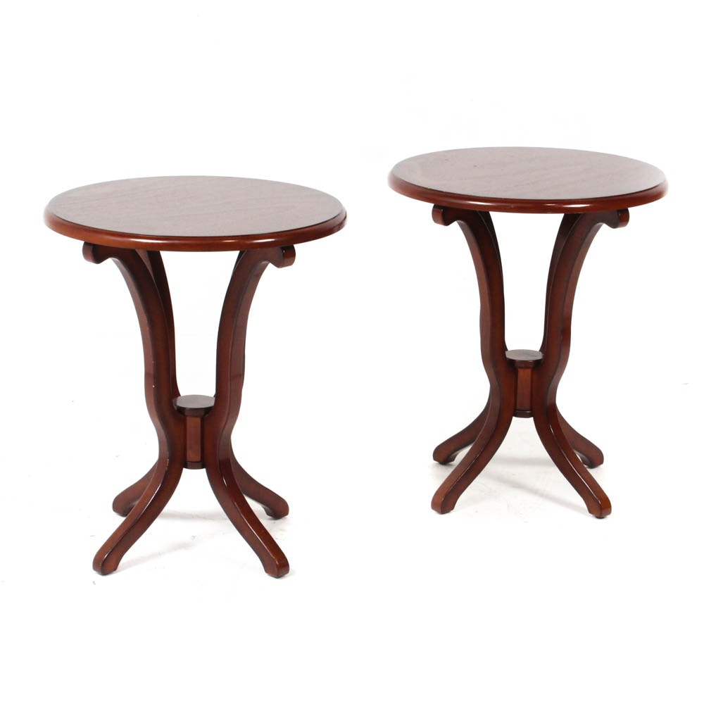 Round Wood Side Tables