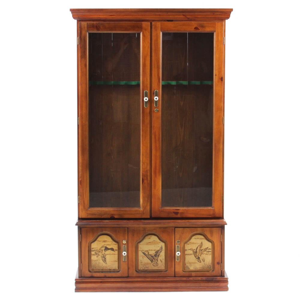 Pine Gun Cabinet