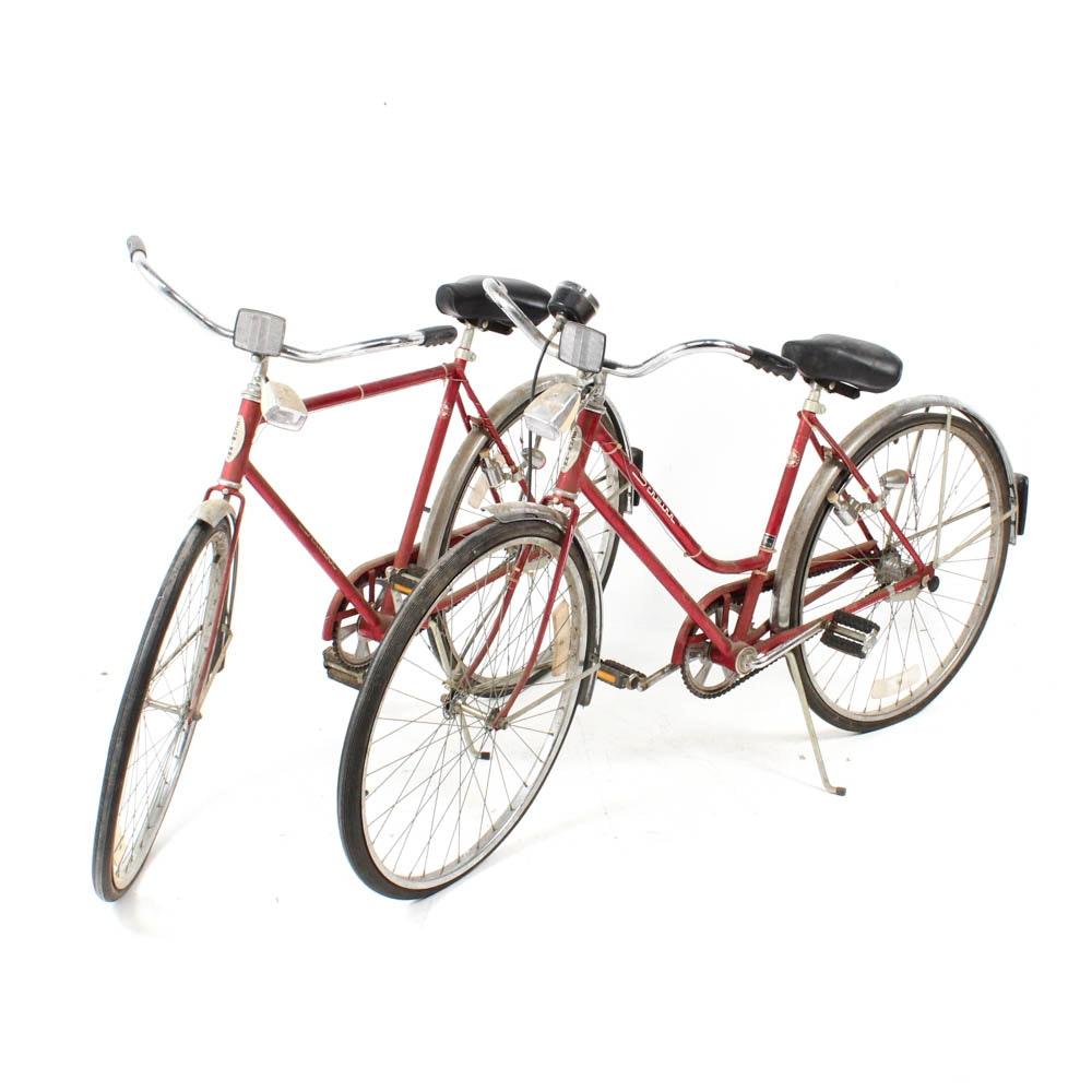Pair of Vintage Schwinn Bicycles