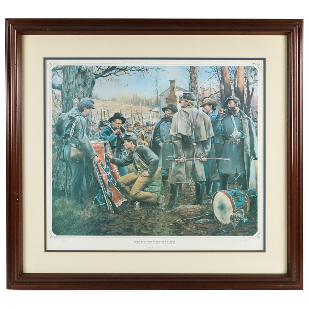 "Don Troiani Limited Edition Offset Lithograph ""Emblems Of Valor"""