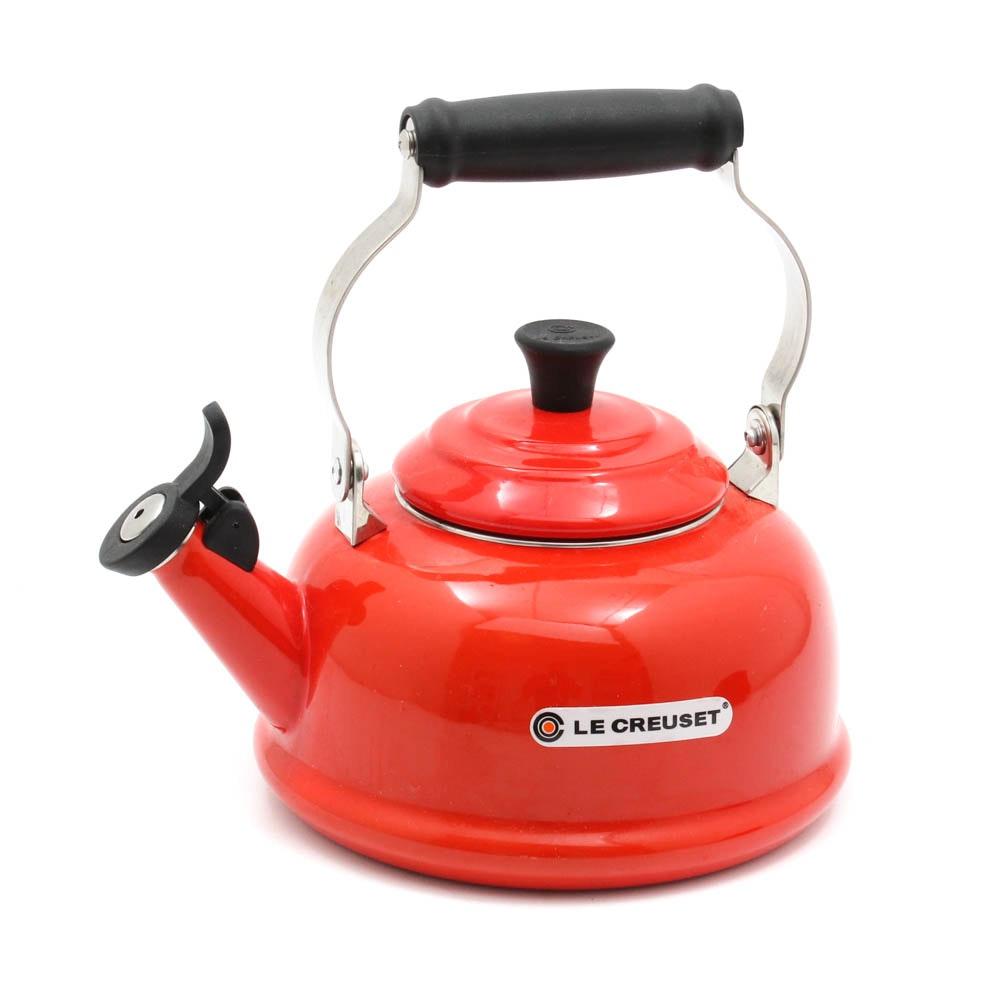 Le Creuset Red Enamel Tea Kettle
