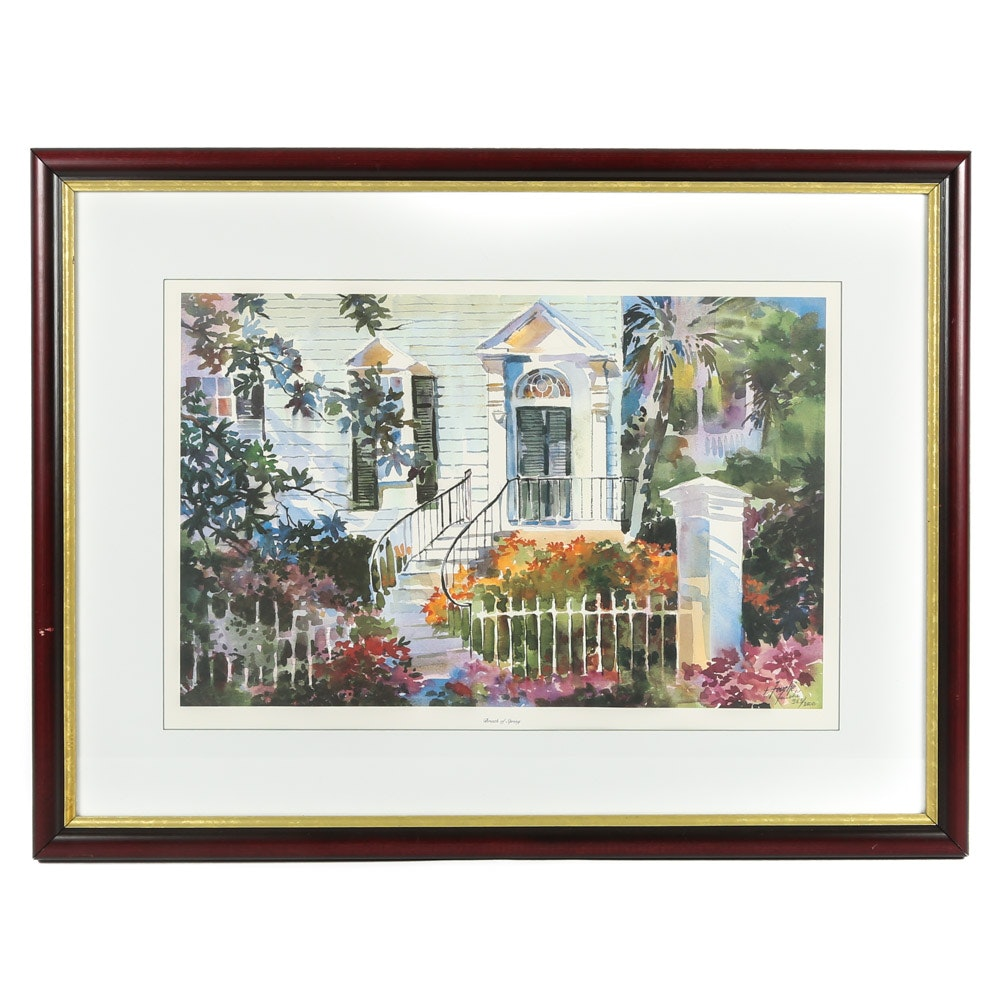 "Virginia Fouche Bolton Limited Edition Offset Lithograph ""Breath of Spring"""