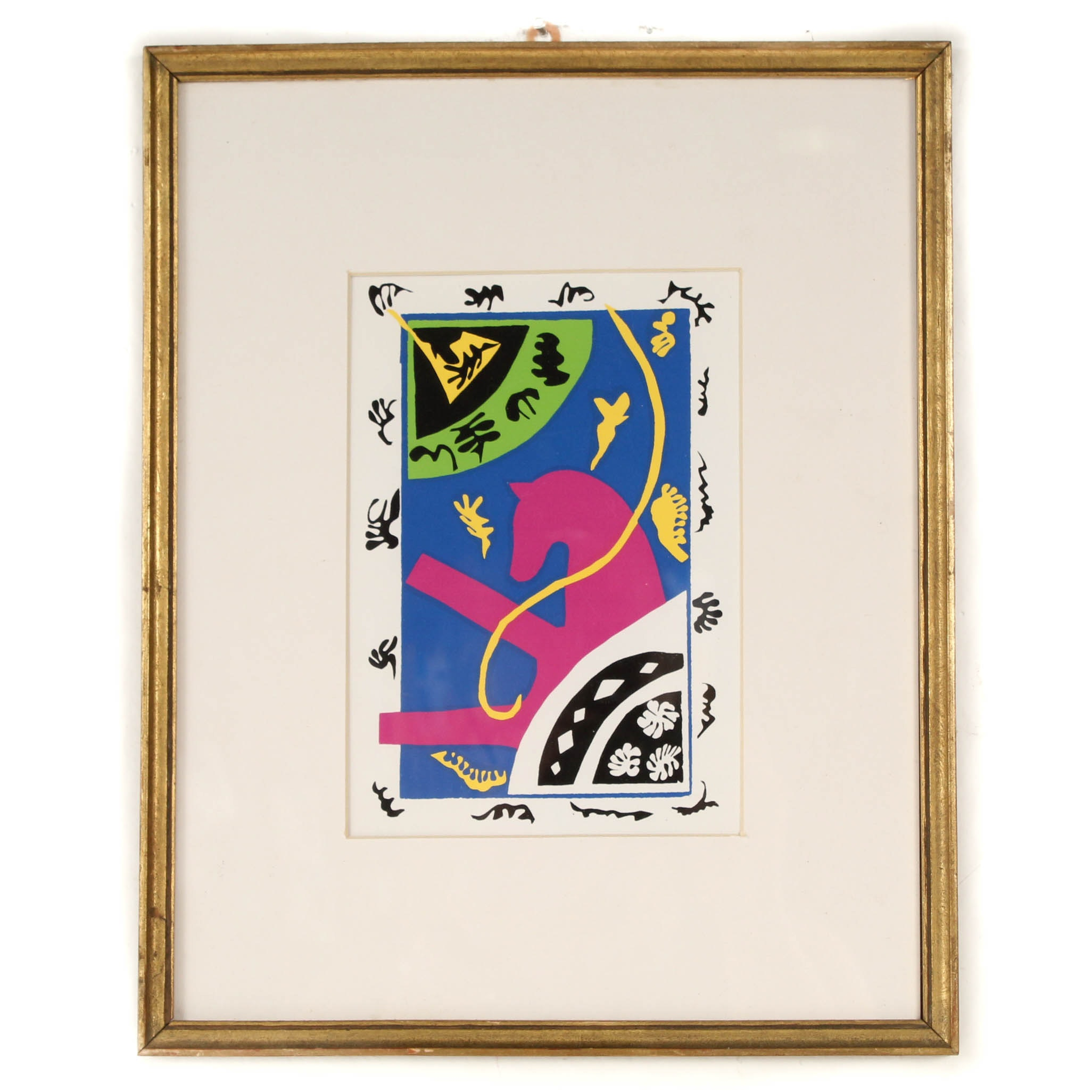 """After Henri Matisse Serigraph """"The Horse, the Equestrienne, and the Clown"""""""
