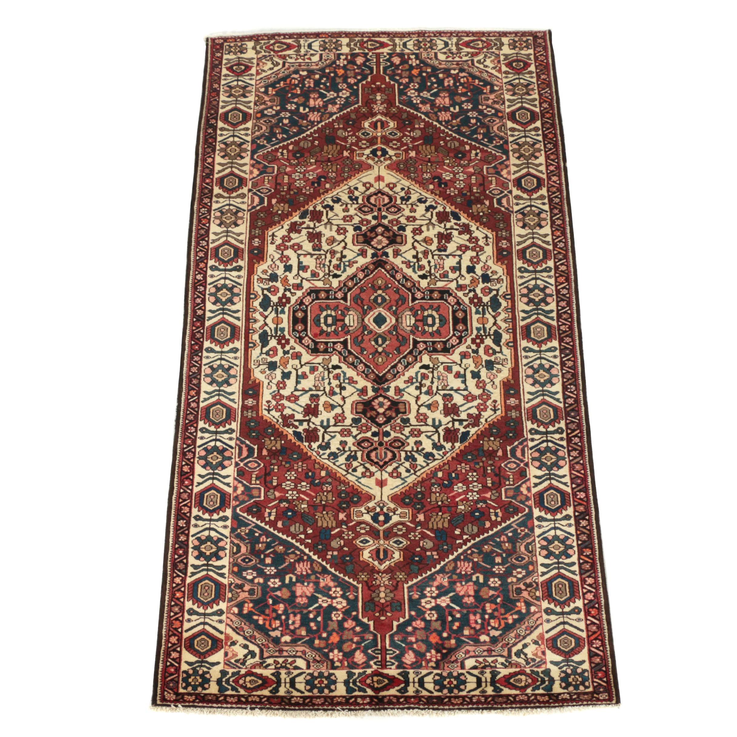 Hand-Knotted Persian Bakhtiari Wool Long Rug
