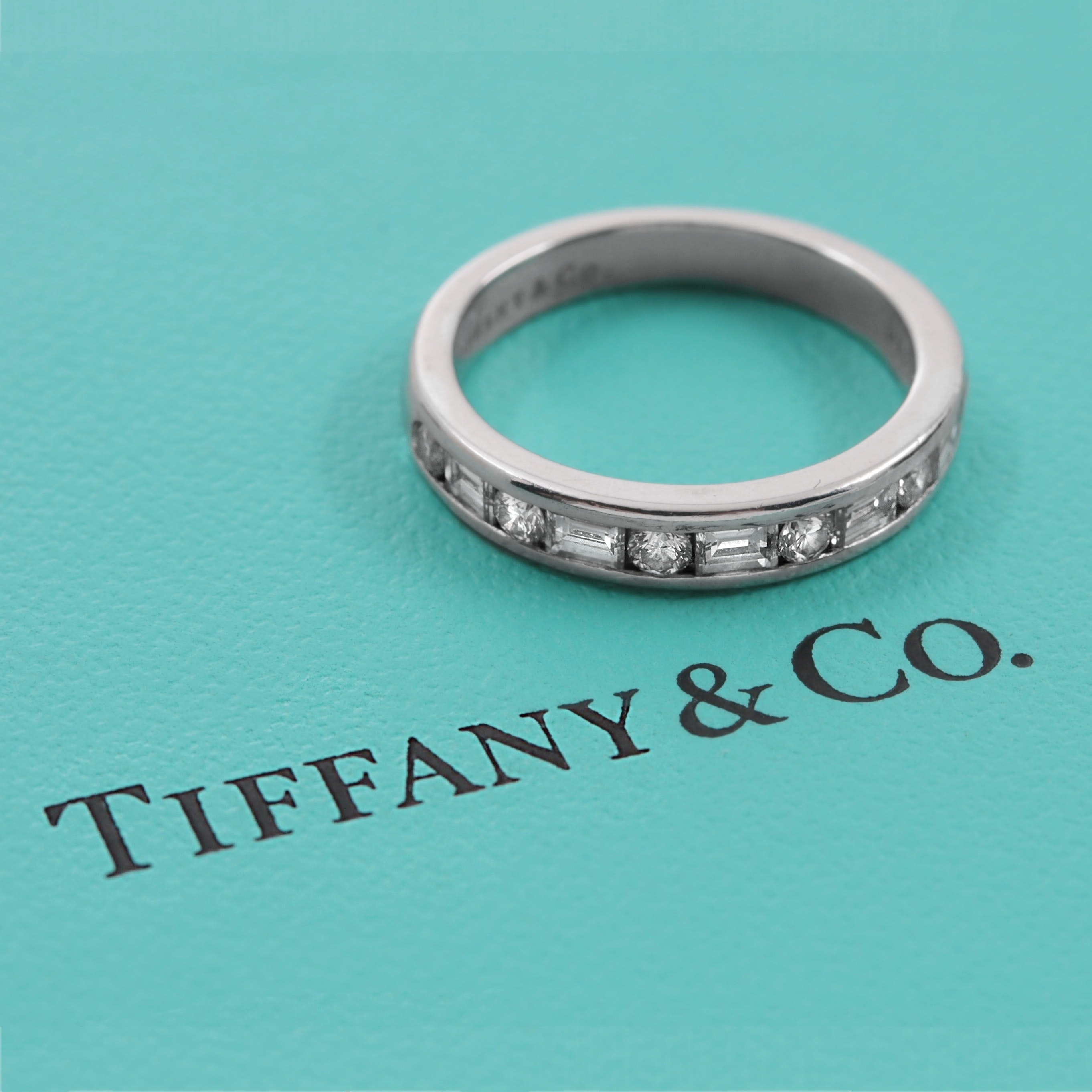 Tiffany & Co. Platinum Channel-Set Diamond Band Ring