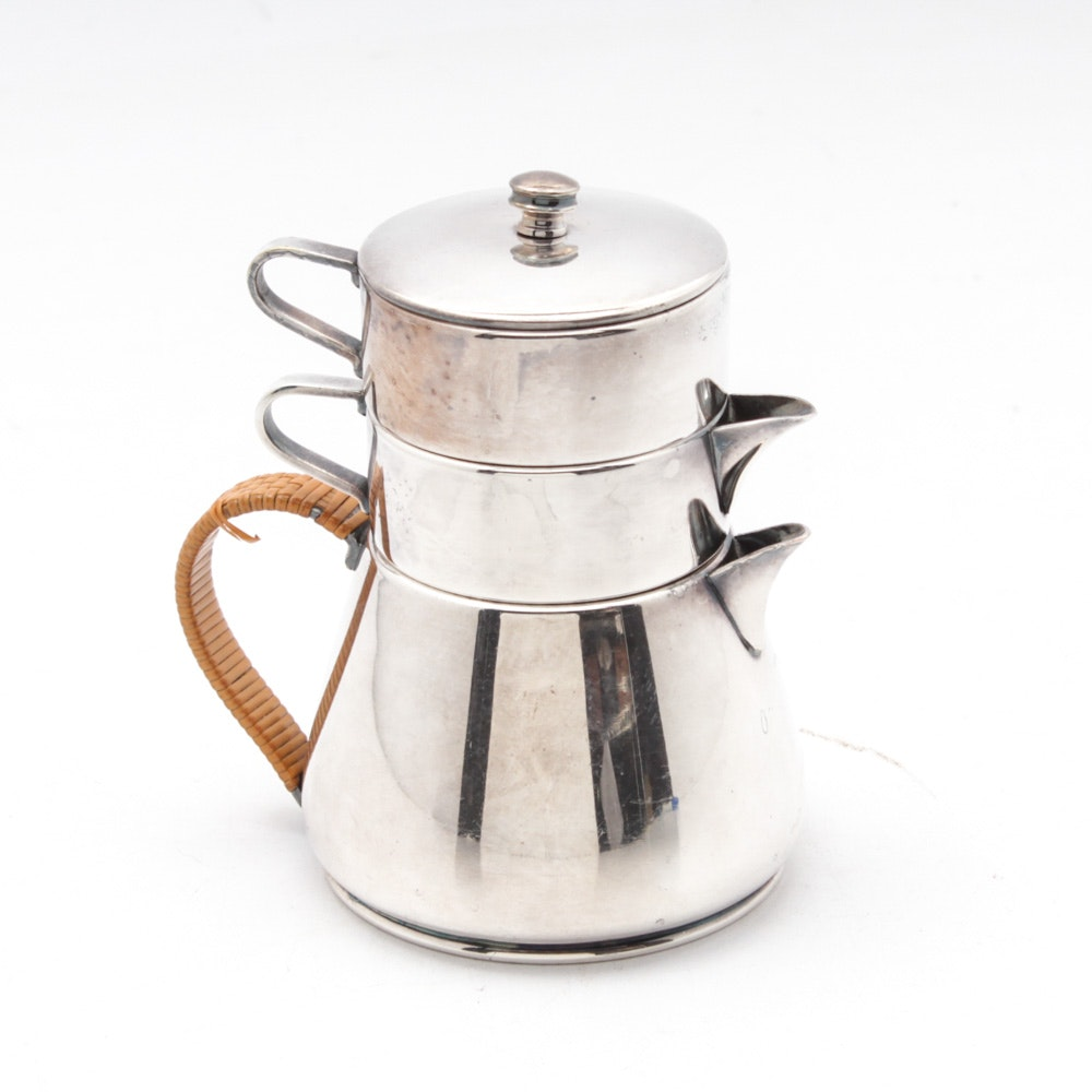 Bernard Rice's Sons Silverplate Stacking Individual Coffee Service