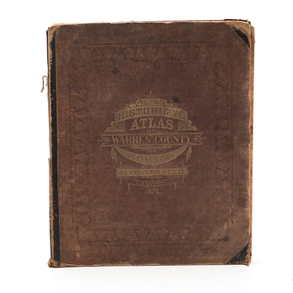"1875 Illustrated ""Historical Atlas of Warren County, Ohio"""