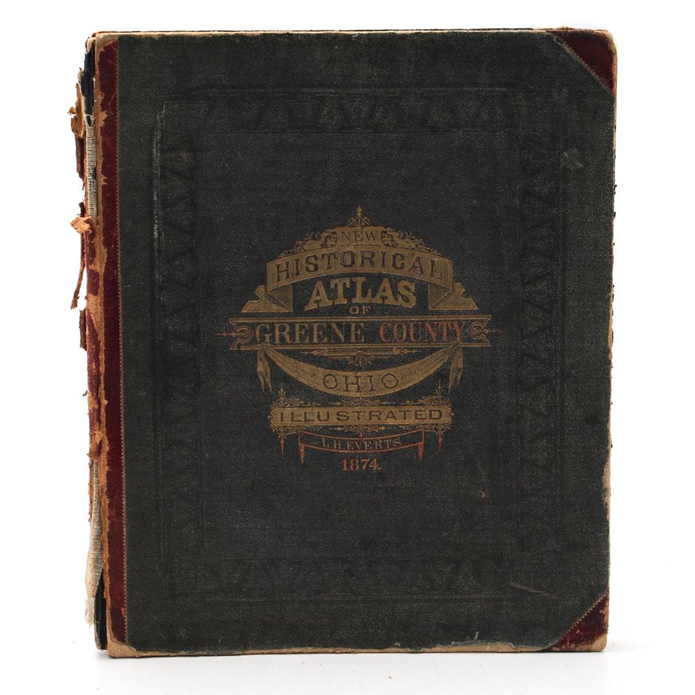 "1874 Illustrated ""Historical Atlas of Greene County, Ohio"""