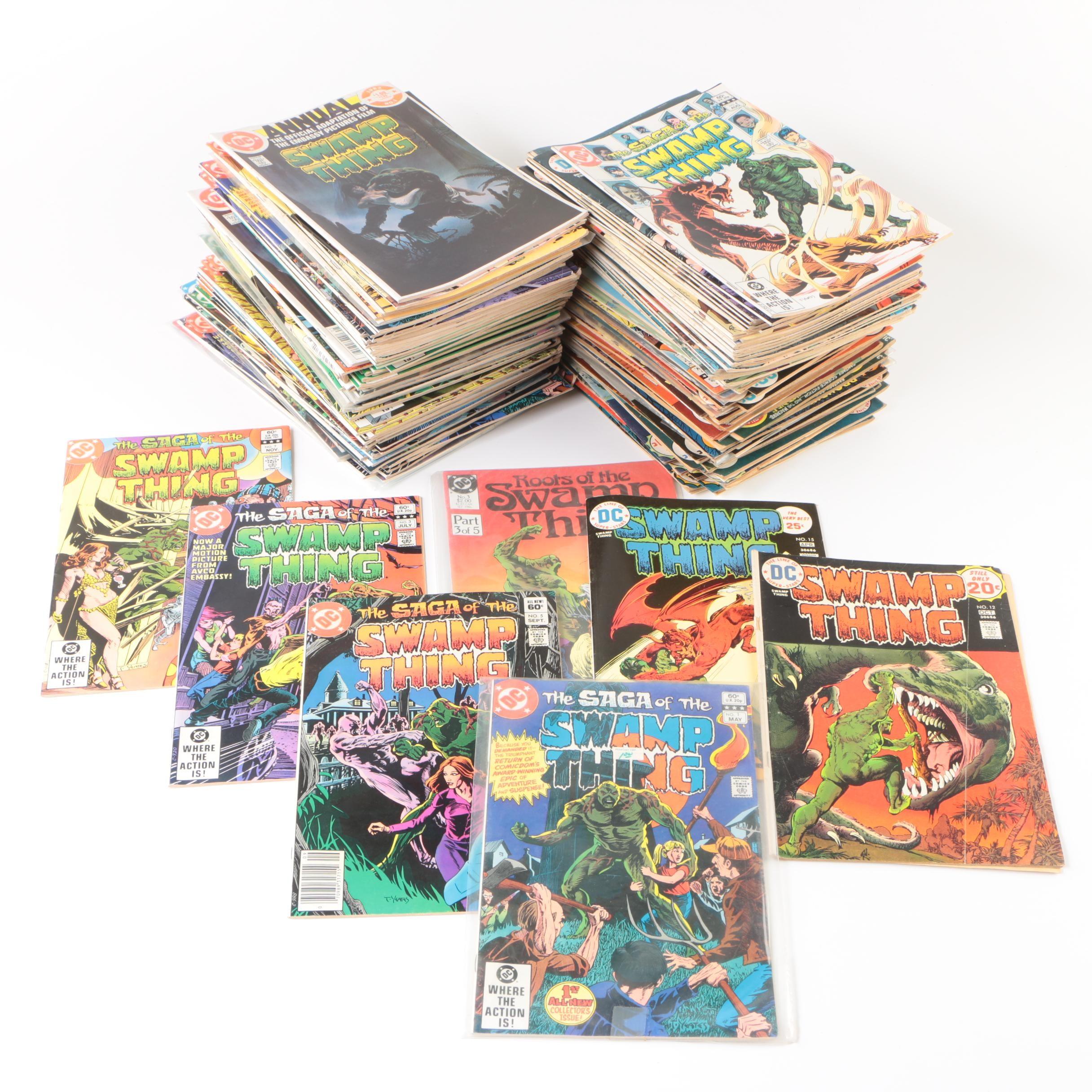 """1970s-1980s """"Swamp Thing"""" Comic Books"""
