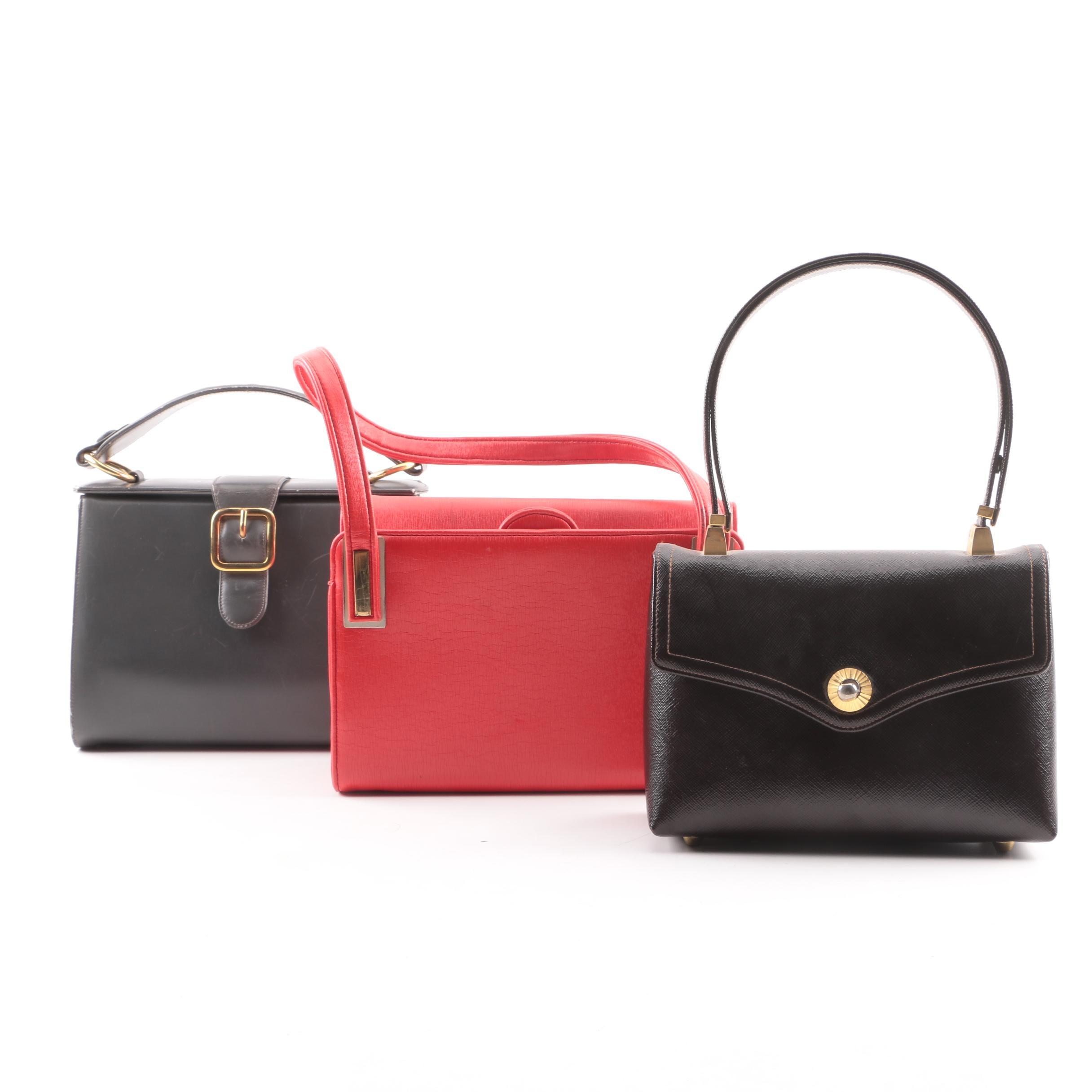 Vintage Top-Handle Handbags Including Bienen-Davis and Koret