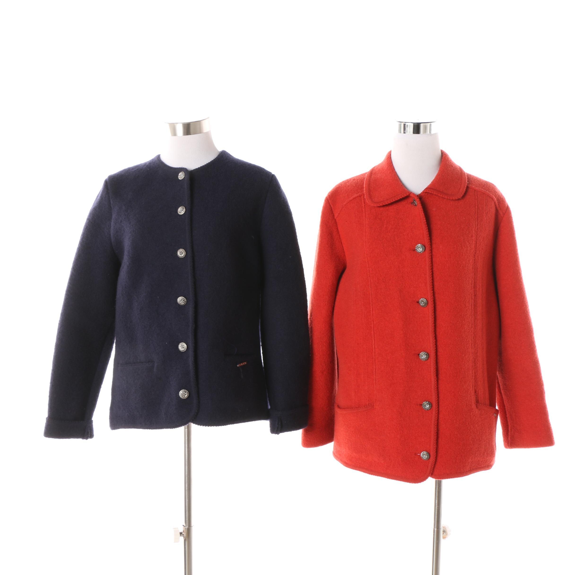 Women's Geiger of Austria Boiled Wool Jackets