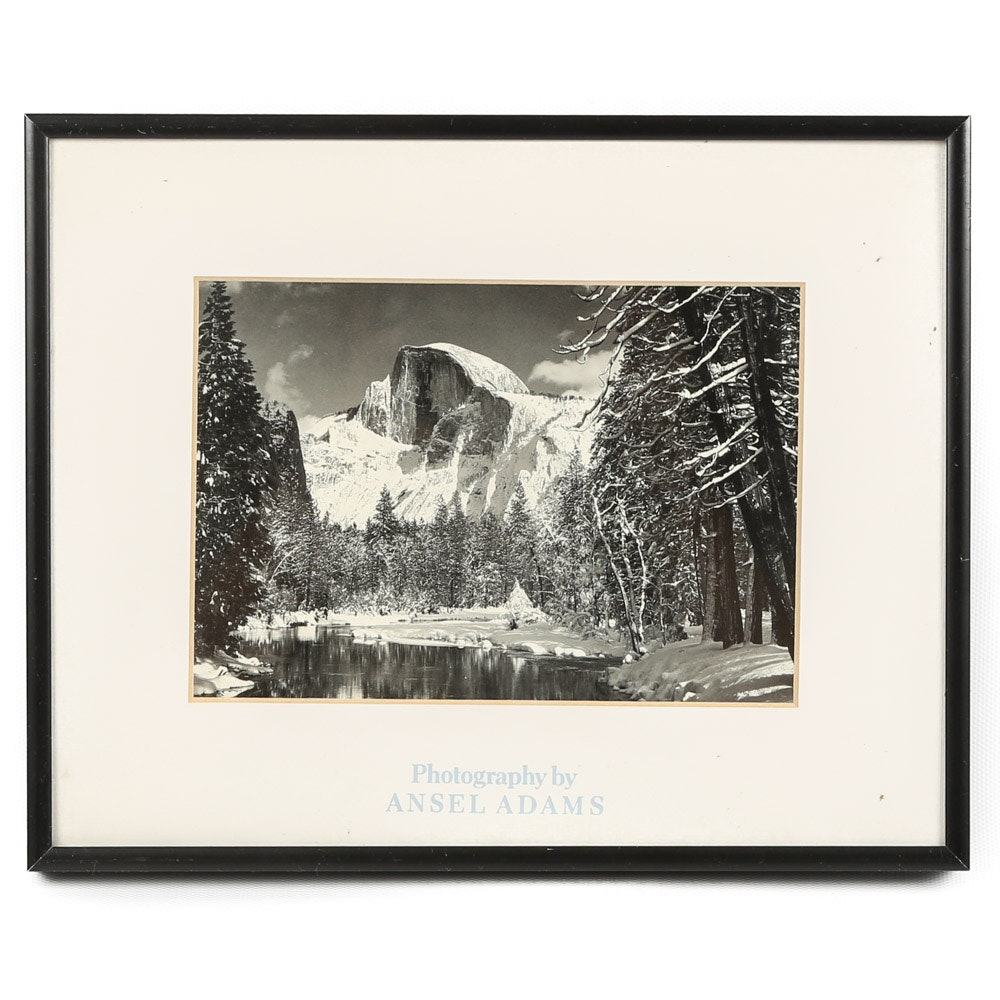"""Offset Lithograph after Ansel Adams """"Half Dome"""""""