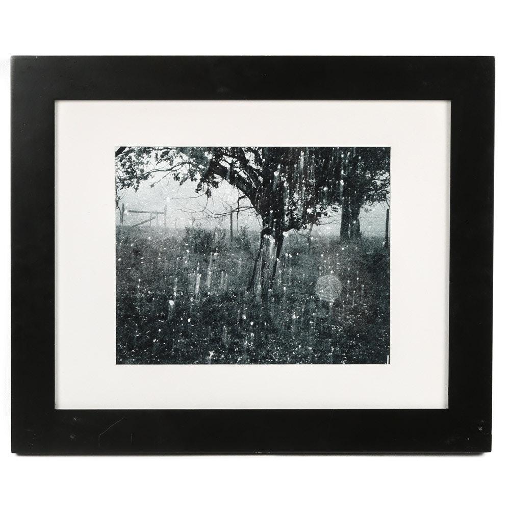 "Framed Black and White Photographic Print ""Rain Storm"""
