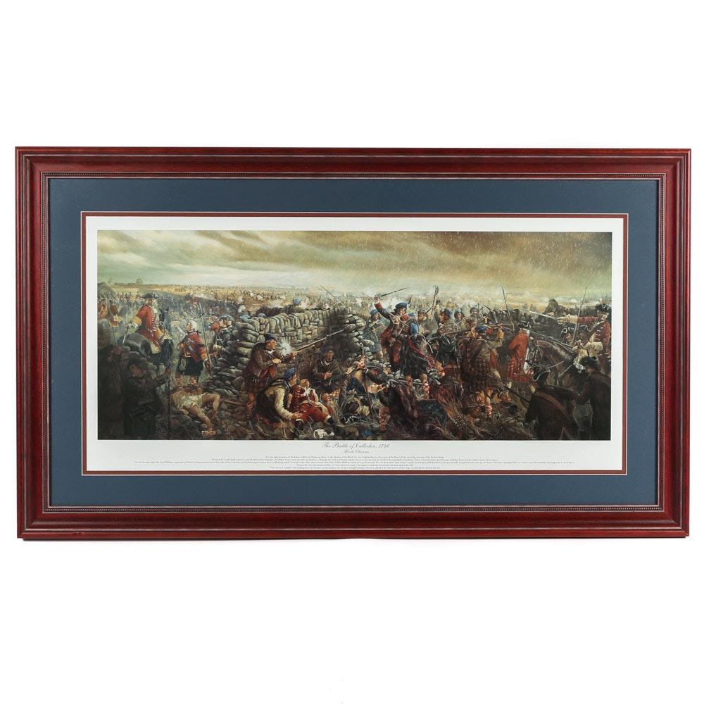 "Offset Lithograph after Mark Churms  ""The Battle of Culloden, 1746"""
