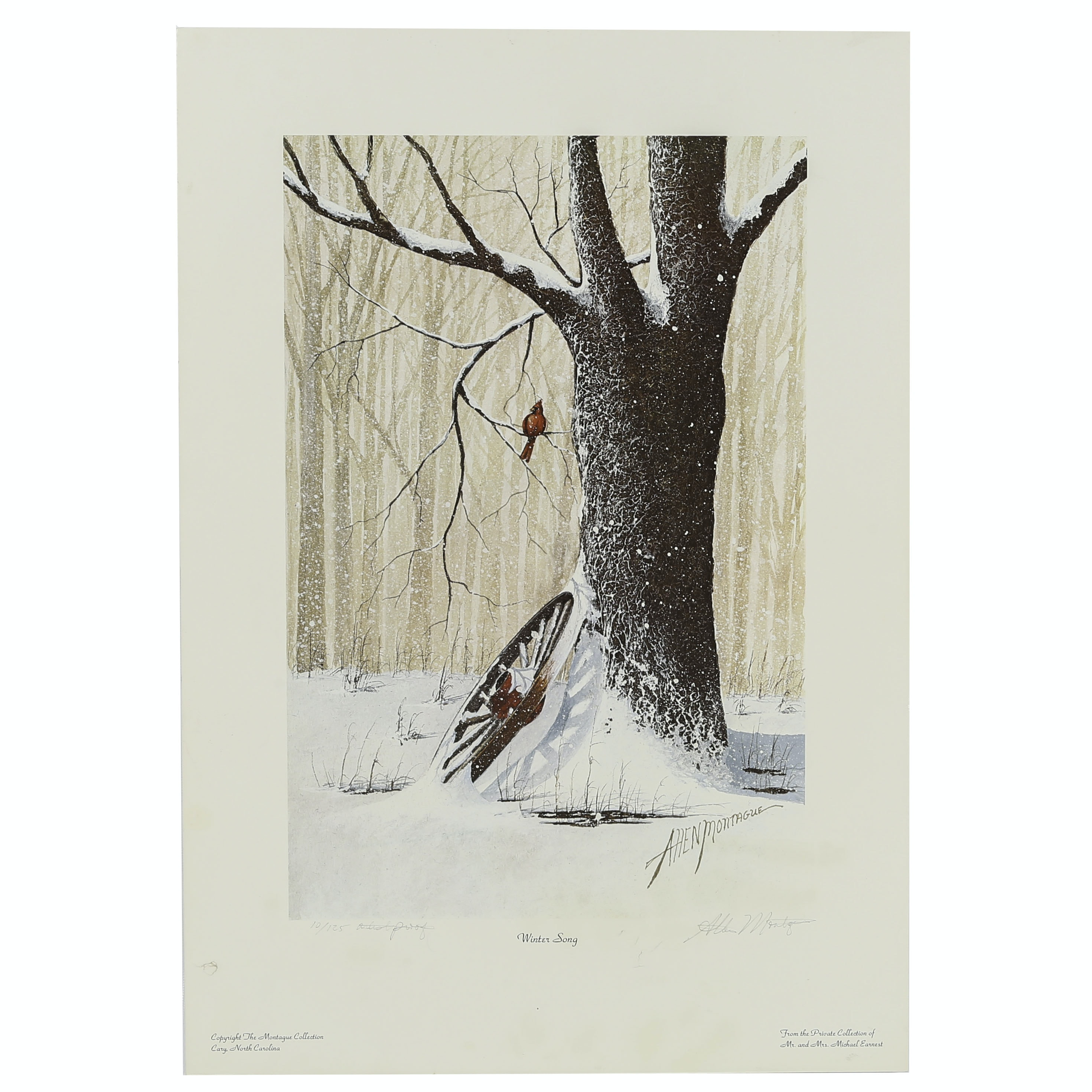 """Allen Montague Limited Edition Offset Lithograph """"Winter Song"""""""