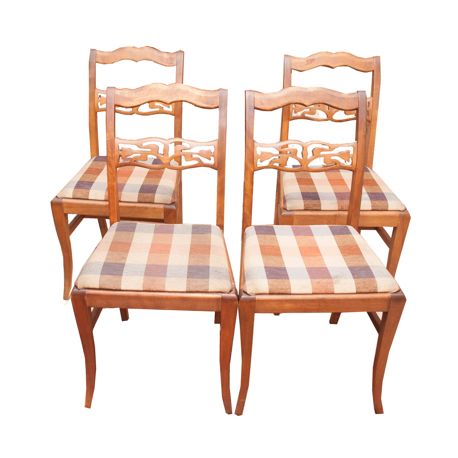 Federal Style Mahogany Side Chairs, Mid-20th Century