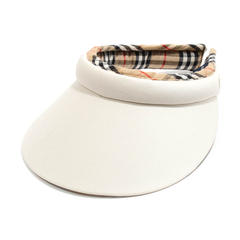 Burberry Golf Khaki and Nova Check Sun Visor