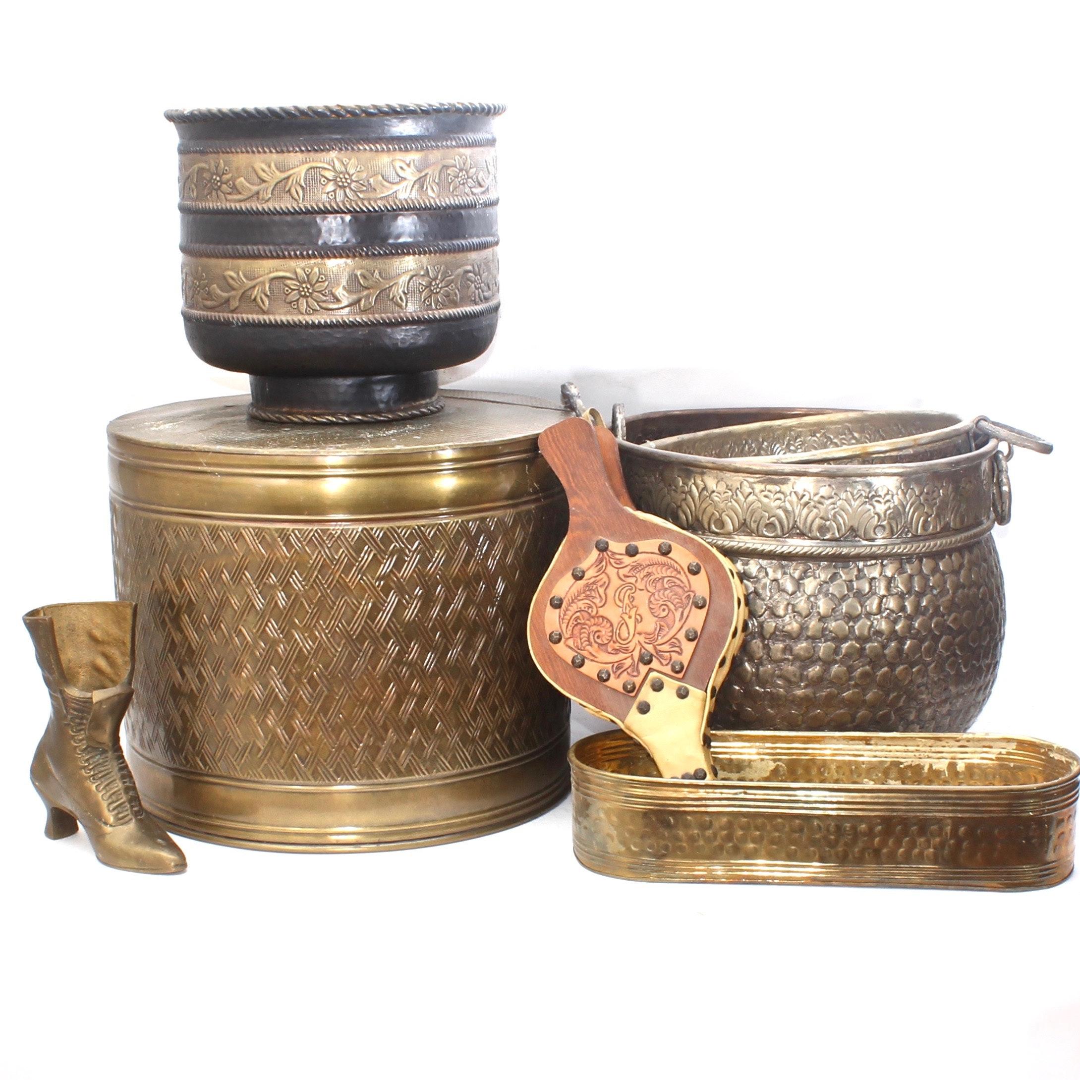 Vintage Brass Hearth Accessories