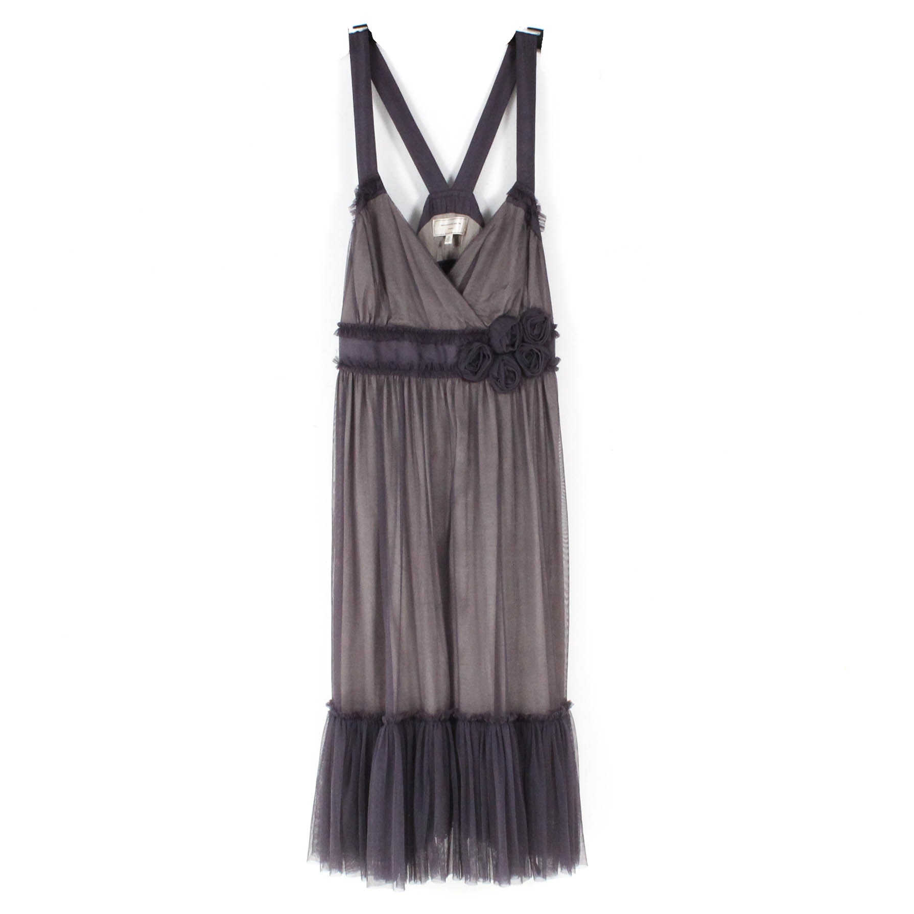 Moulinette Soeurs For Anthropologie Silk and Tulle Sleeveless Dress