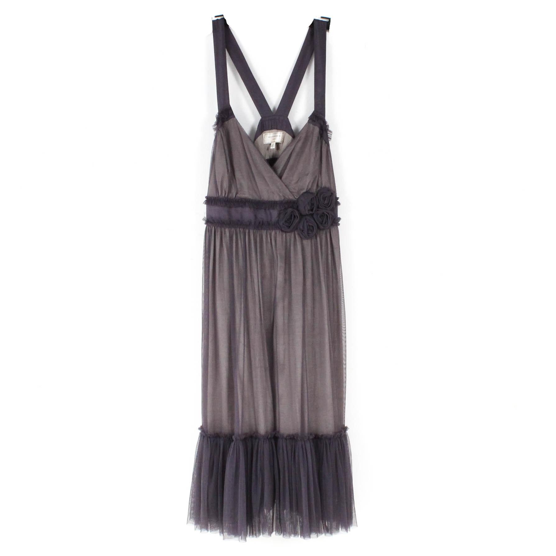 Moulinette Soeurs For Anthropologie Silk and Tulle Sleeveless Dress