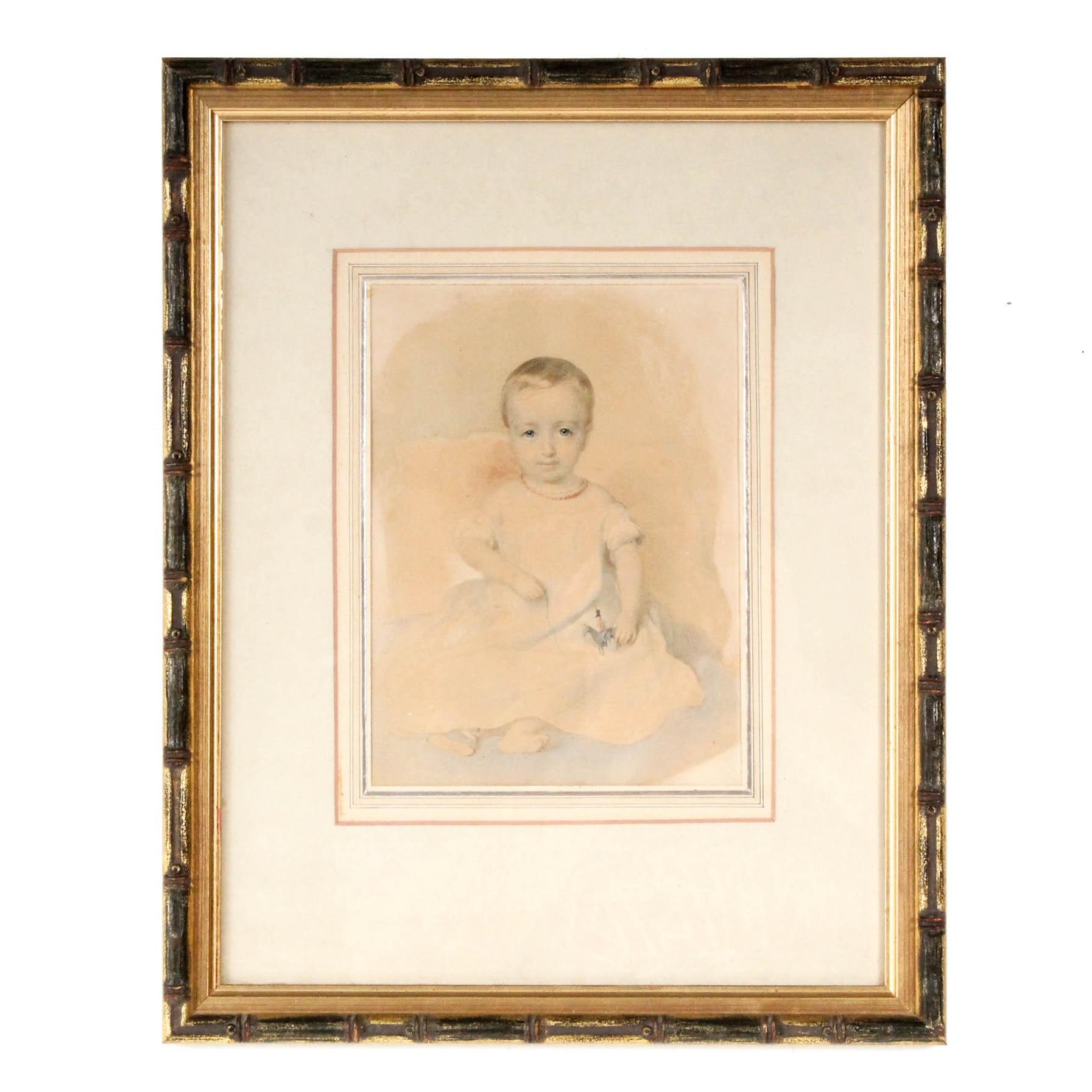 Watercolor Portrait Circa 1820