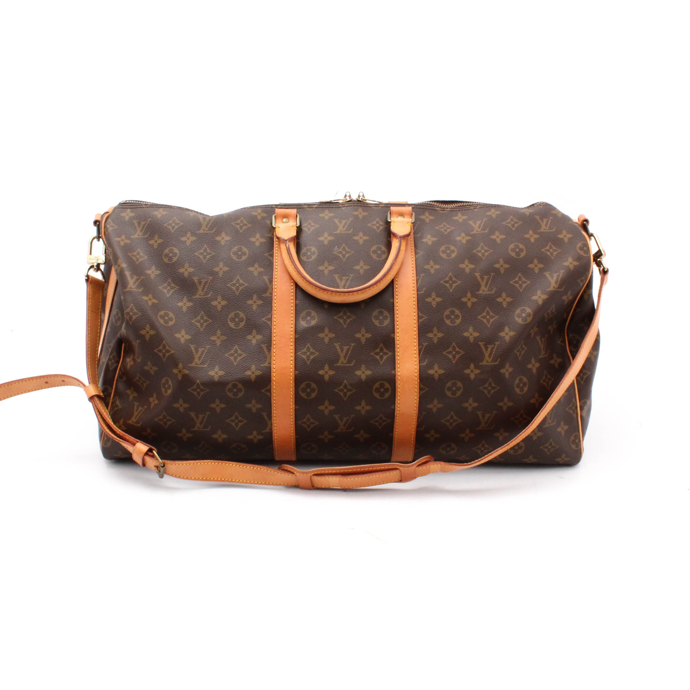 Louis Vuitton Monogram Keepall Bandoulière 55 Duffel Bag