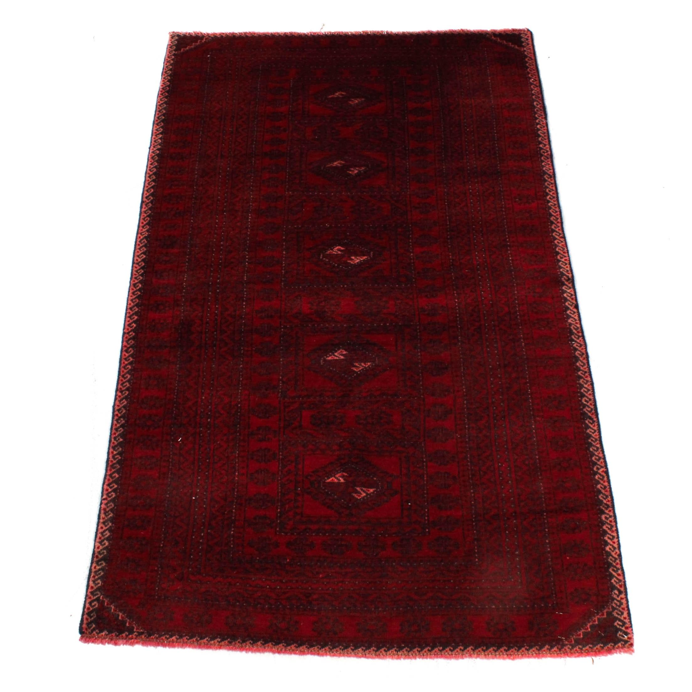 Vintage Hand-Knotted Persian Qashqai Turkmen Rug