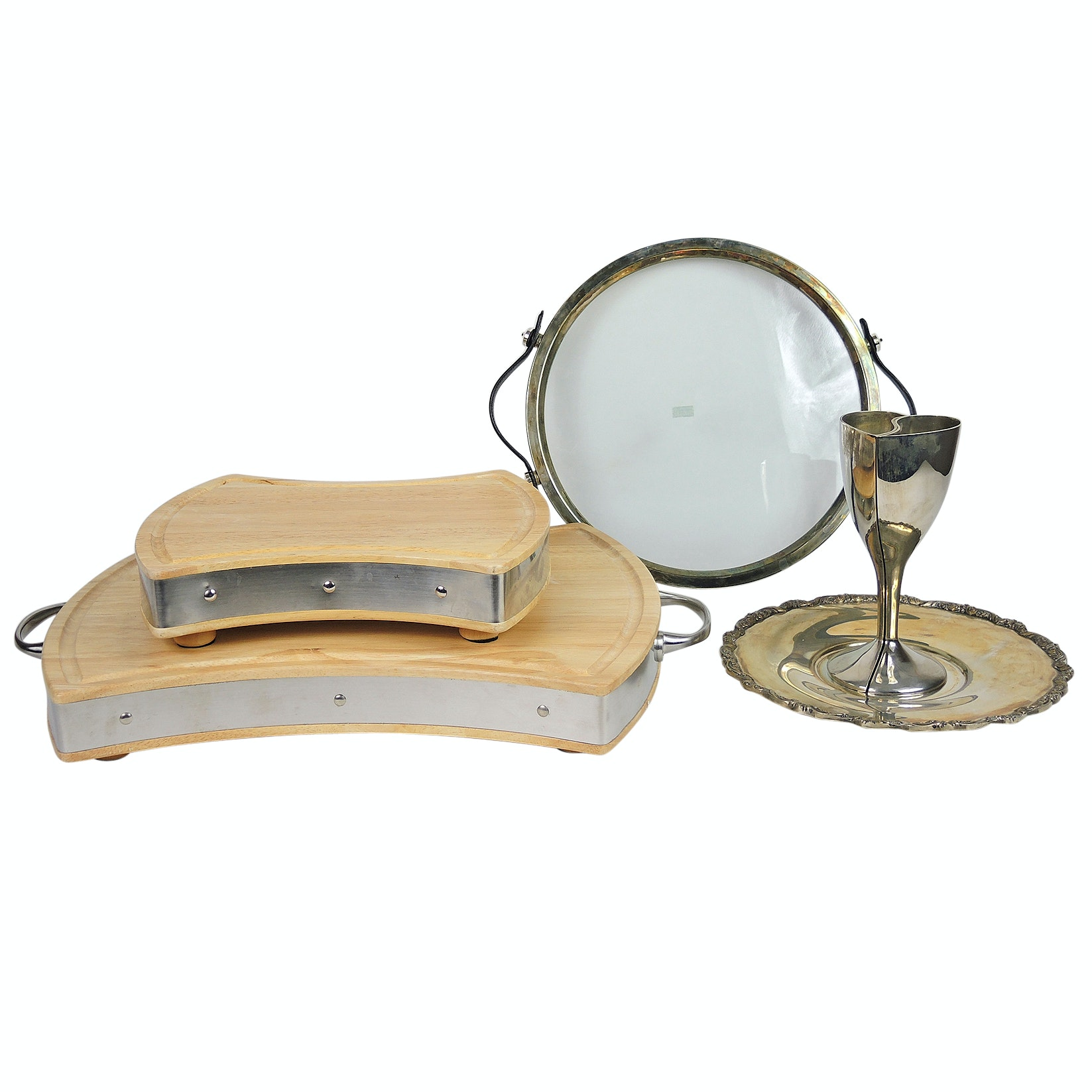Silver Plate Serveware and Towle Silversmiths Cutting Boards