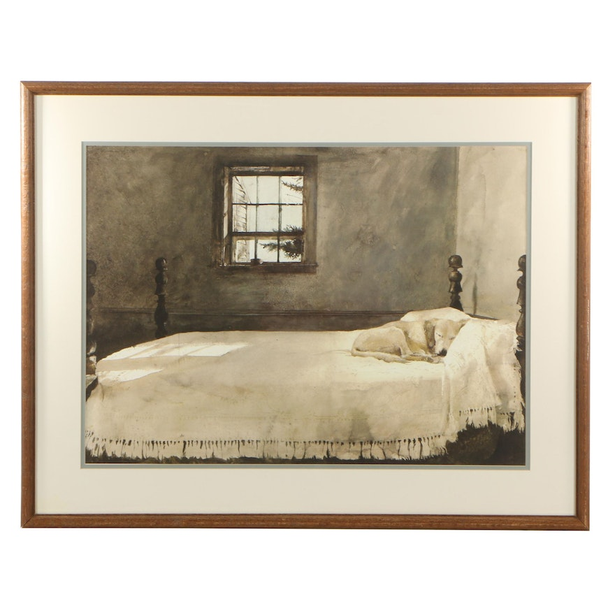 Offset Lithograph After Andrew Wyeth Master Bedroom
