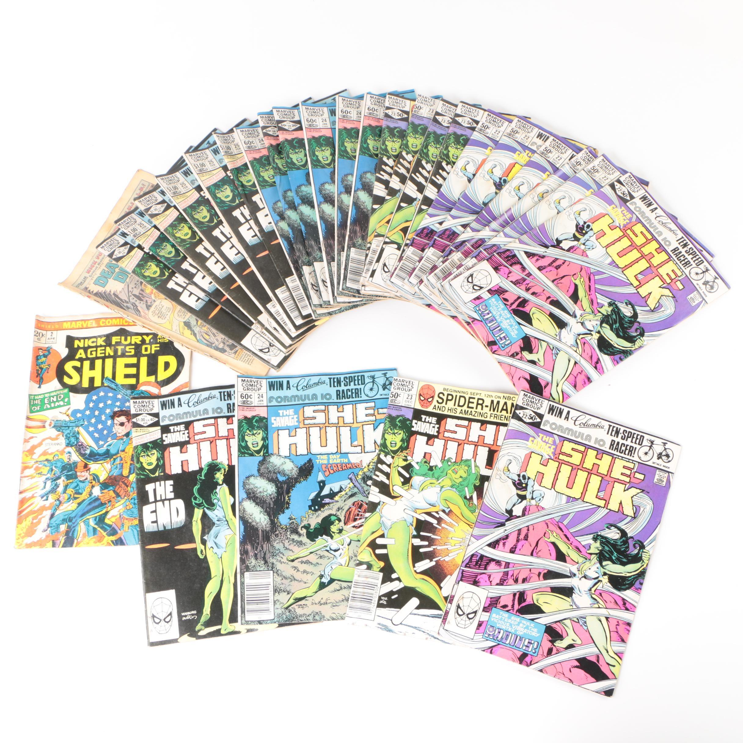 Bronze Age Marvel Comic Books featuring She-Hulk