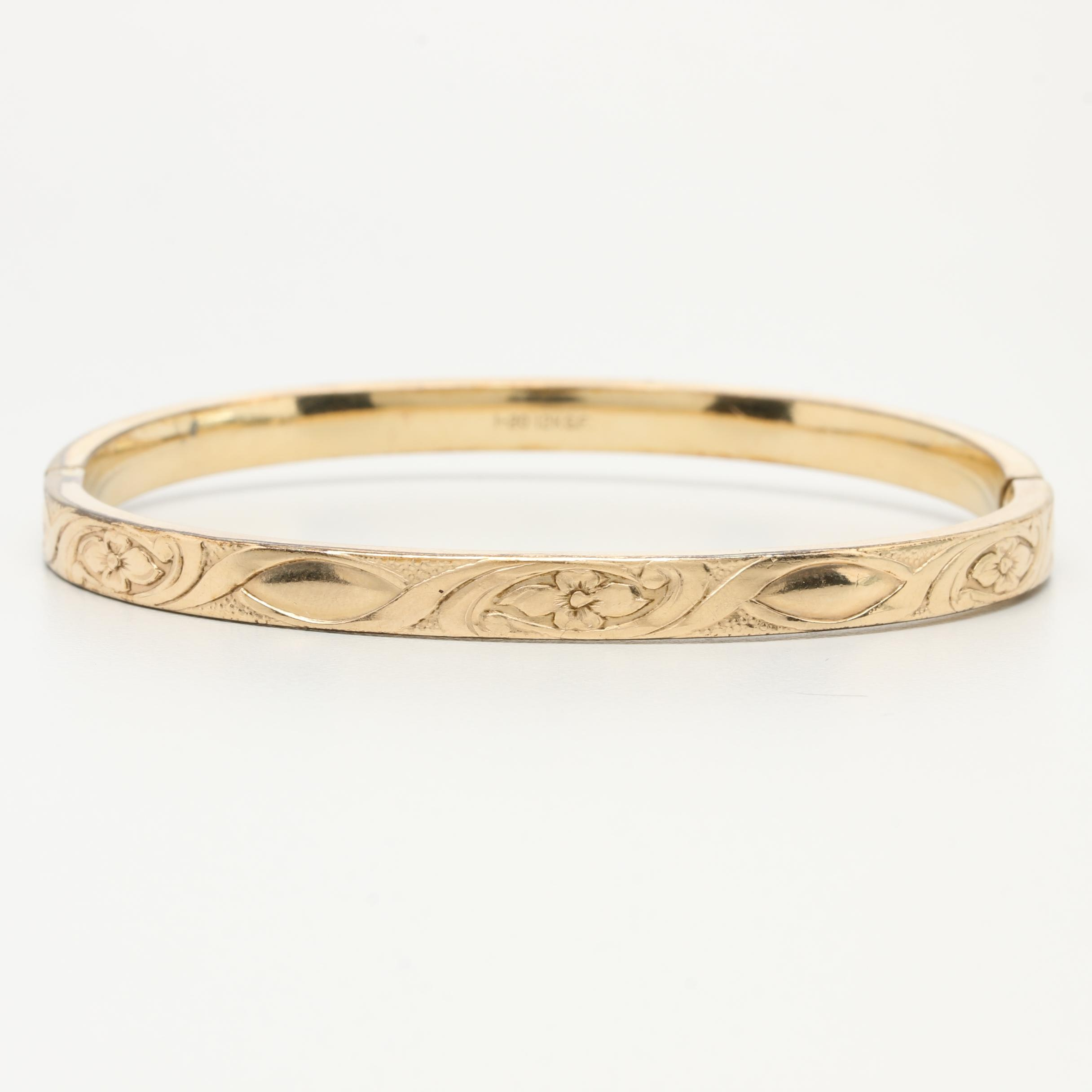 Burt Cassell 12K Gold Filled Bangle Bracelet
