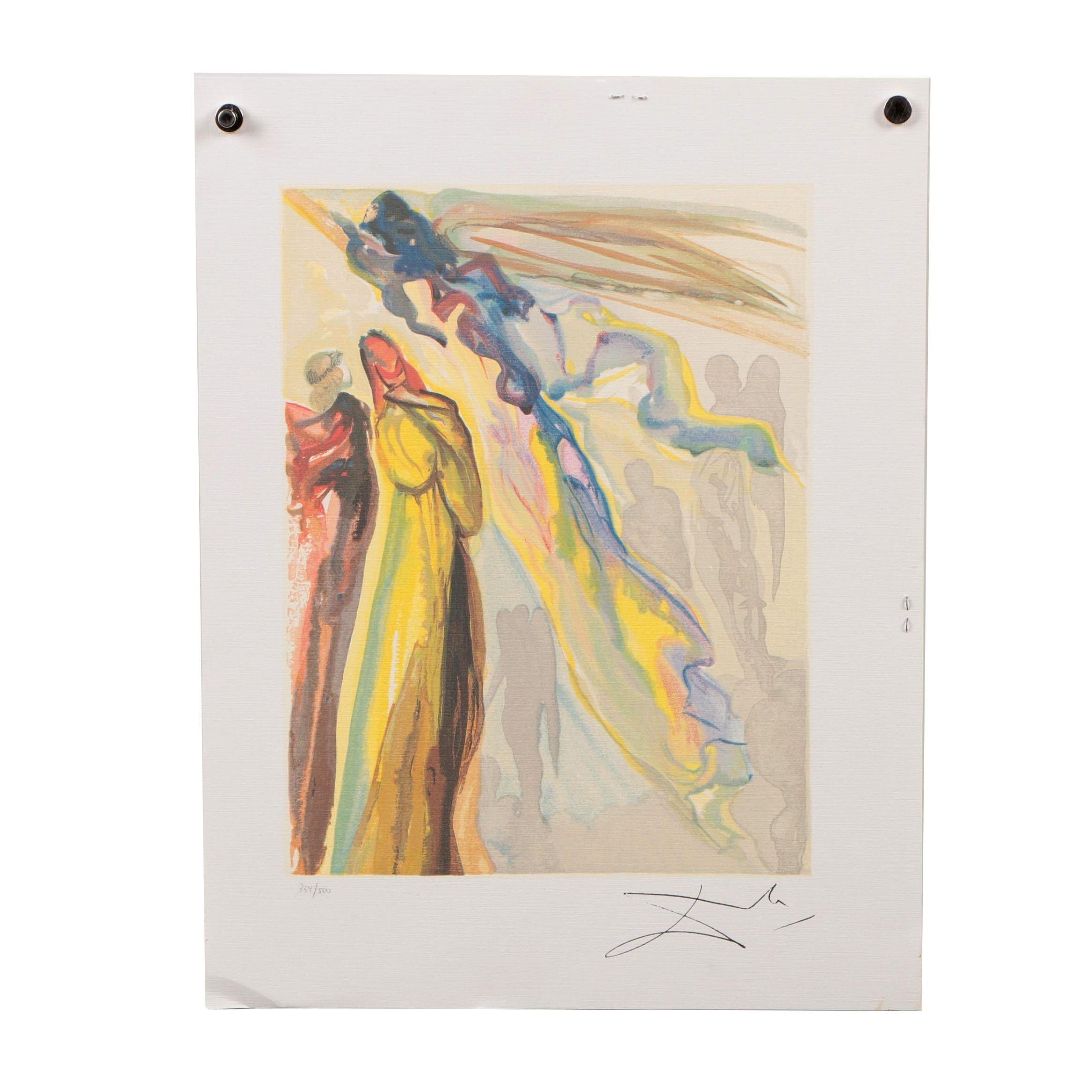 "Offset Lithograph after Salvador Dalí ""Heaven Canto 16"""